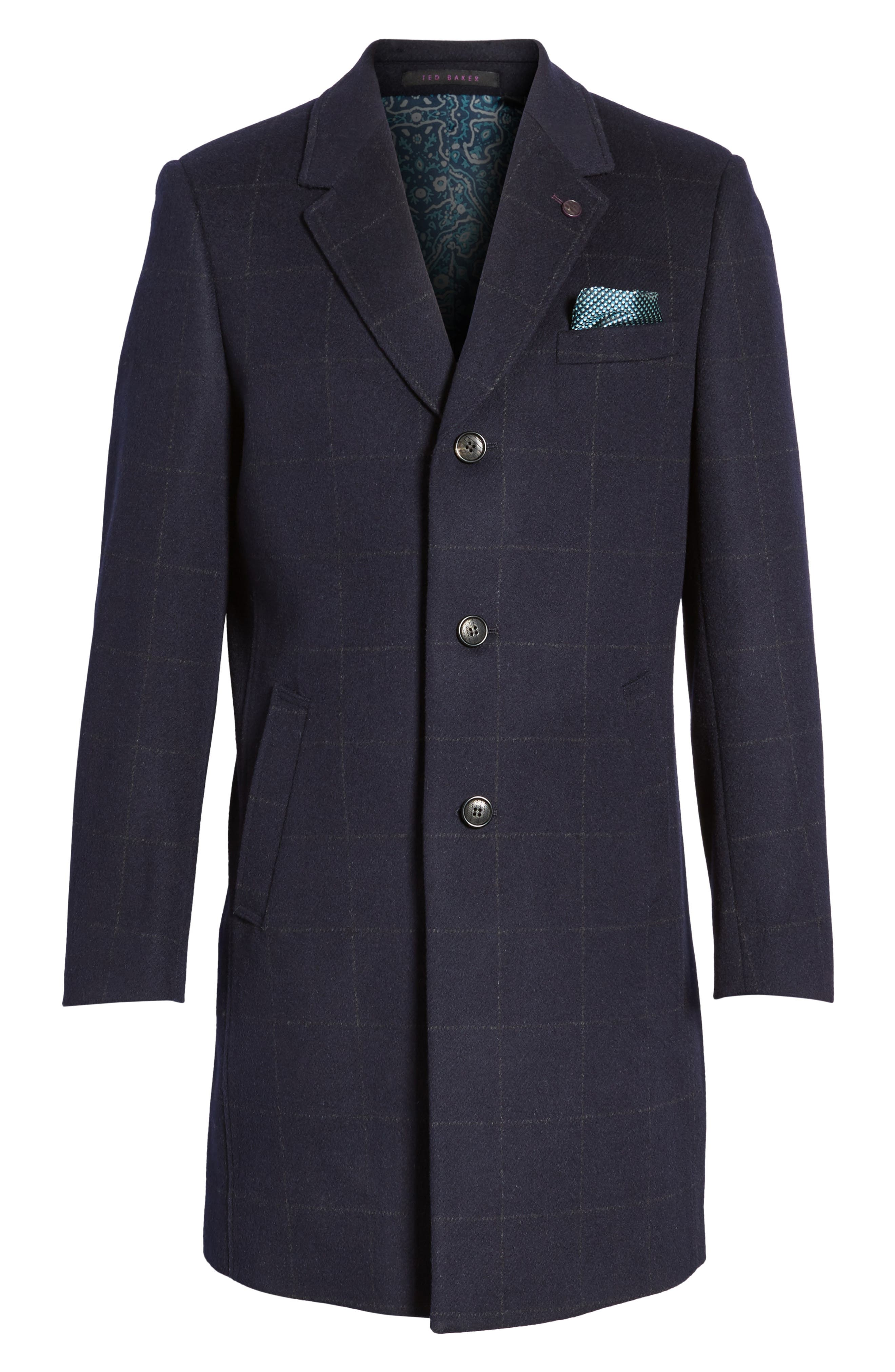 Alternate Image 6  - Ted Baker London Endurance Wool Blend Overcoat