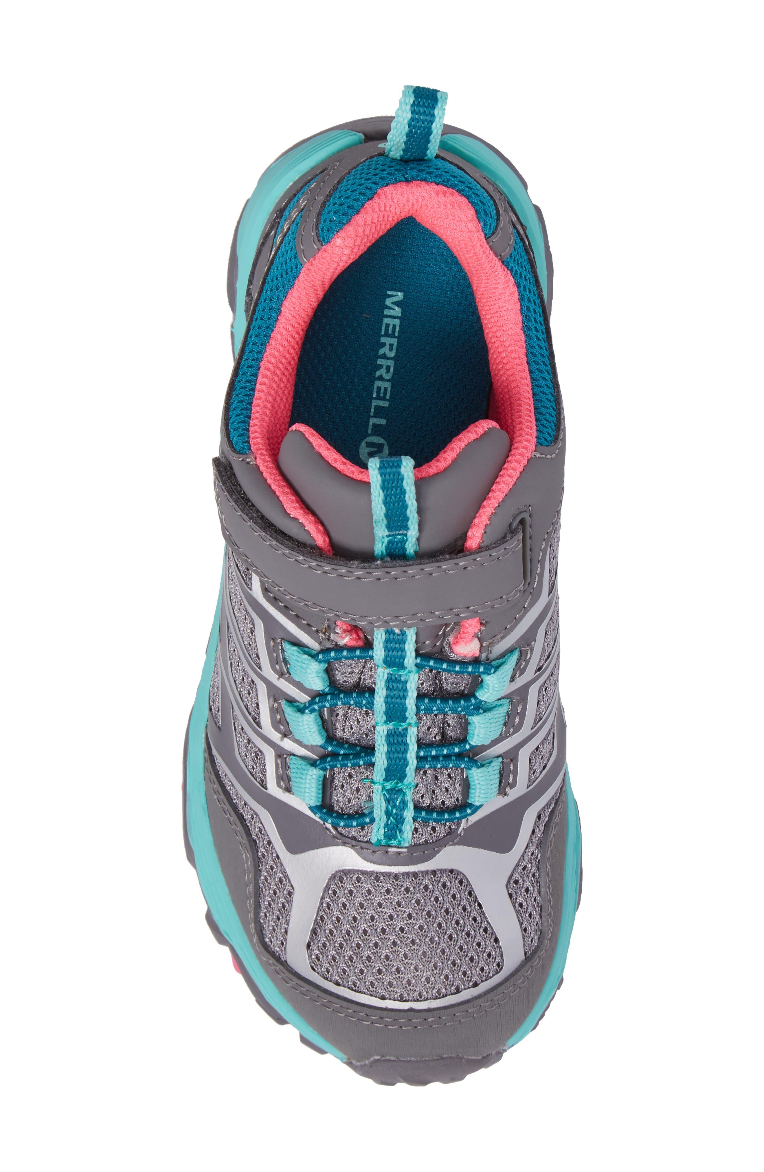Moab FST Polar Low Waterproof Sneaker,                             Alternate thumbnail 5, color,                             Grey/ Multi