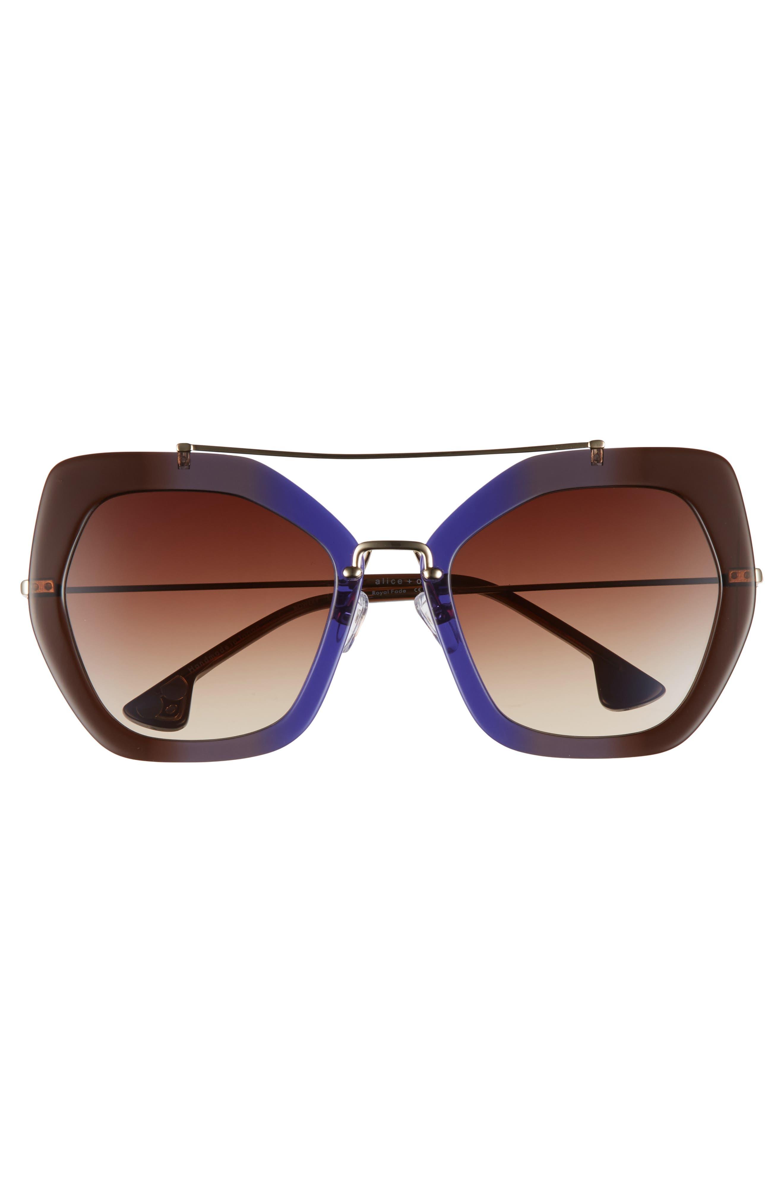 Alternate Image 3  - Alice + Olivia Bowery 55mm Geometric Sunglasses