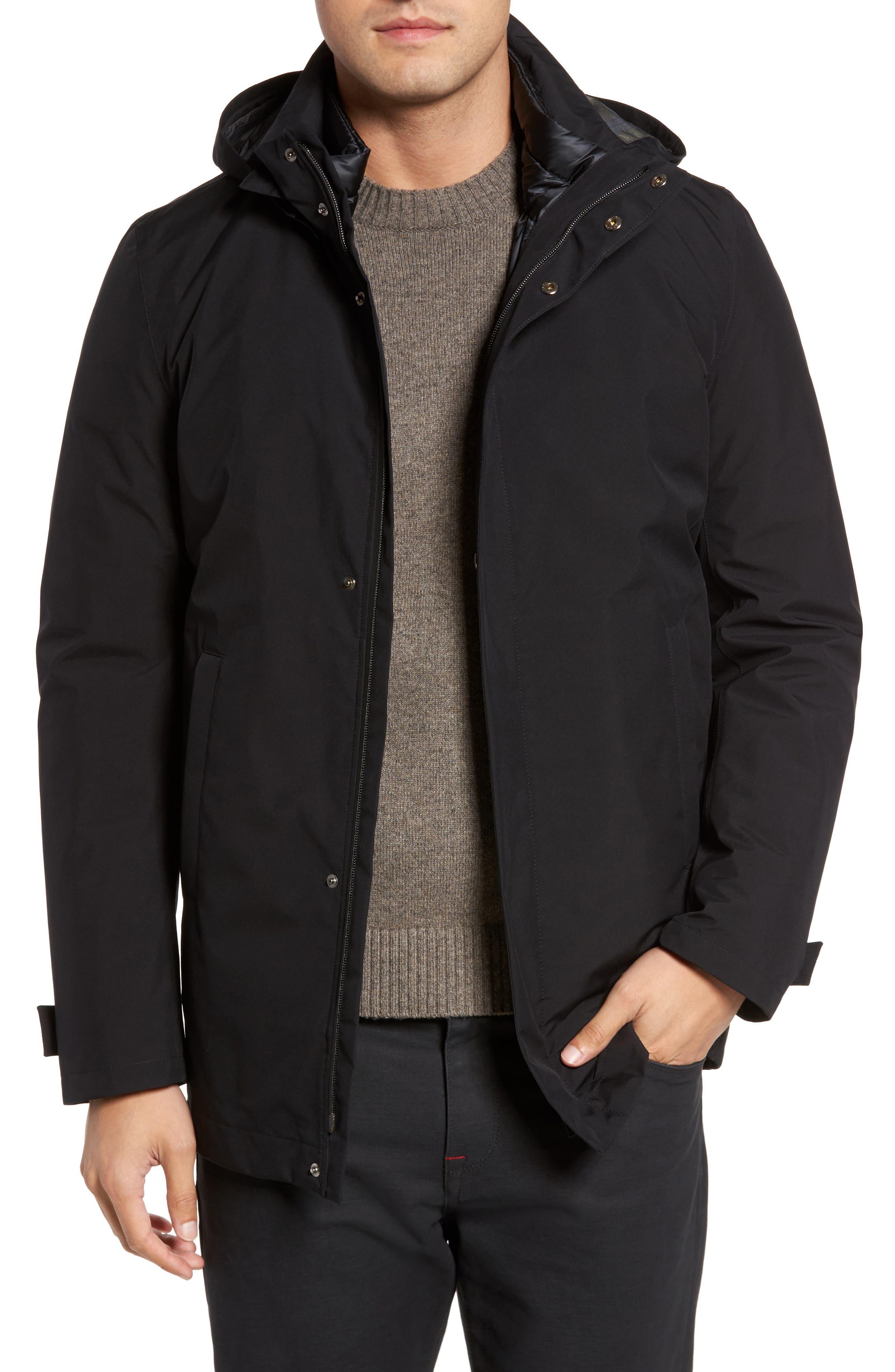 Laminar 3-in-1 Gore-Tex<sup>®</sup> Car Coat,                             Main thumbnail 1, color,                             Black