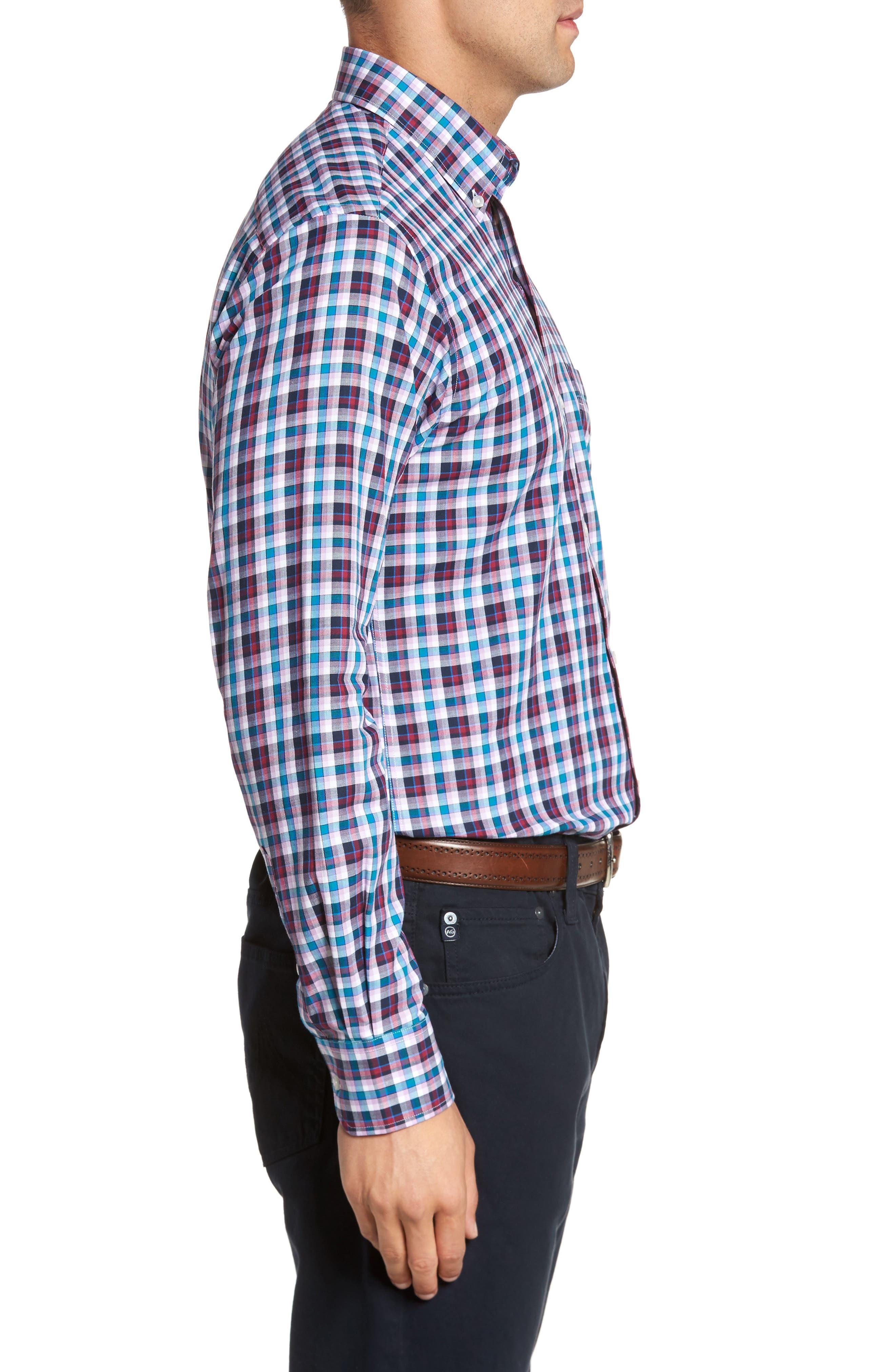 Alternate Image 3  - TailorByrd Coushatta Plaid Sport Shirt