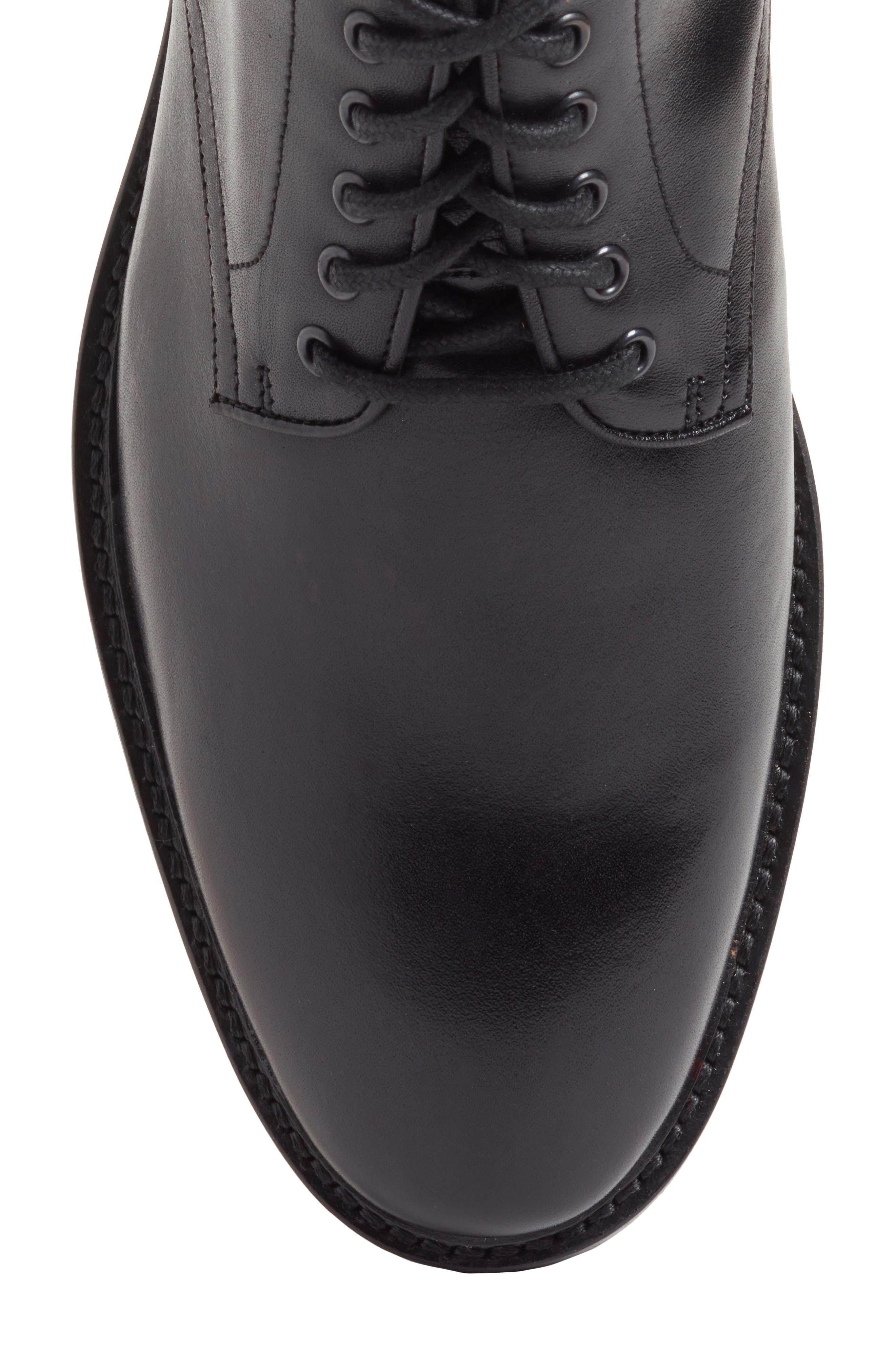 Ramiro Plain Toe Boot,                             Alternate thumbnail 5, color,                             Black Leather