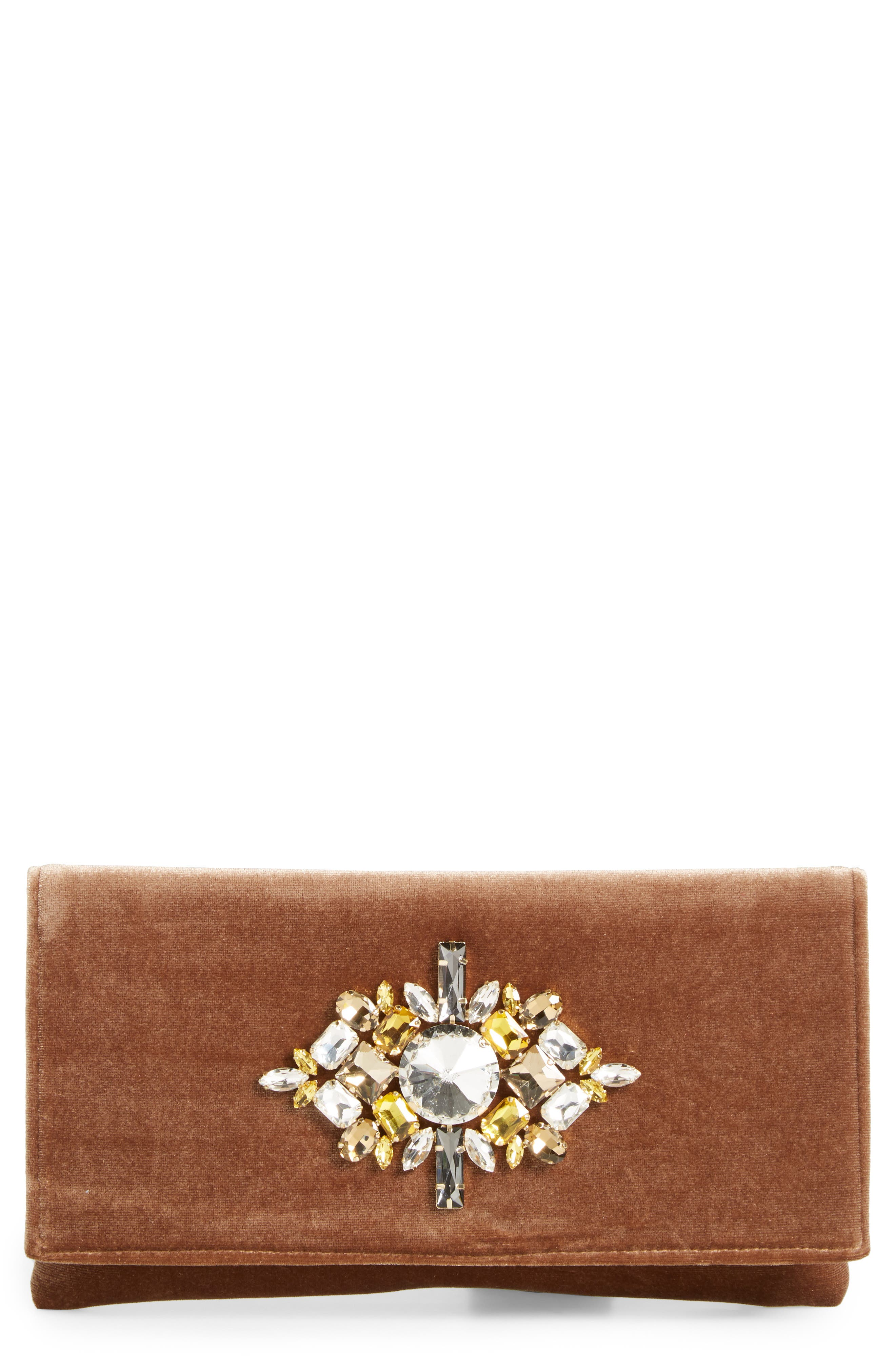 Shiraleah Val Crystal Embellished Clutch