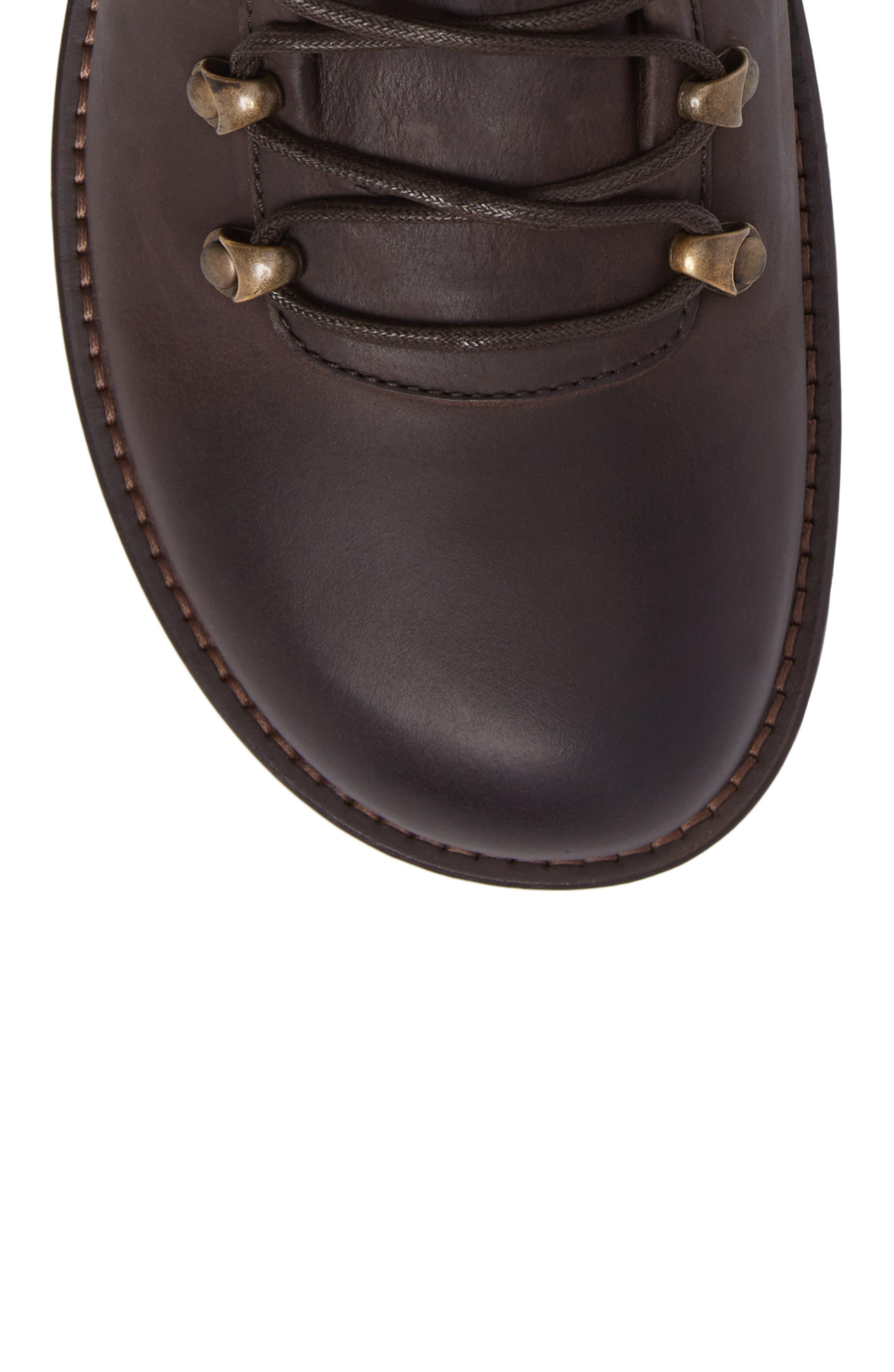 Hancock Plain Toe Boot,                             Alternate thumbnail 5, color,                             Dark Brown