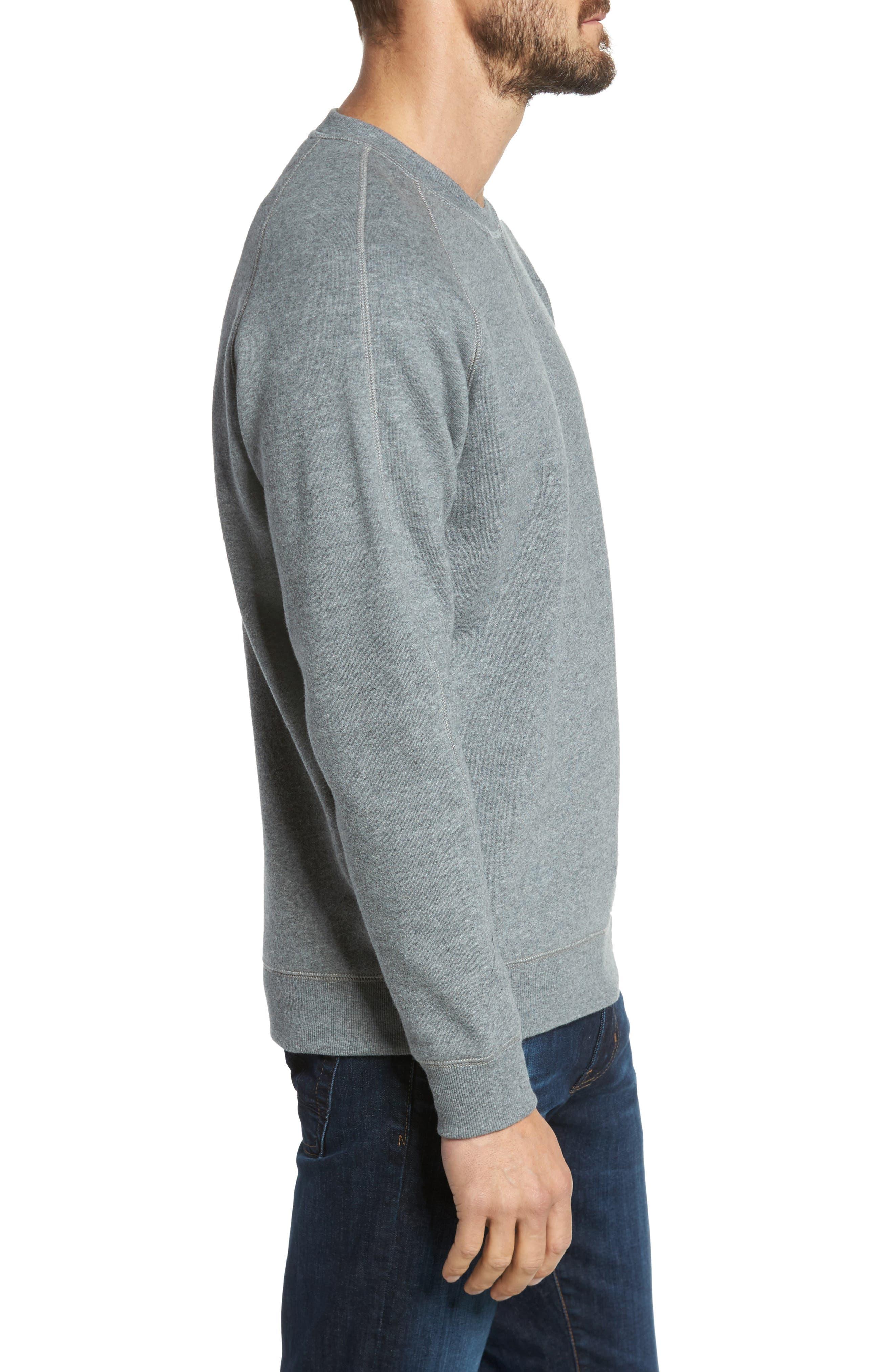 Fleece Sweatshirt,                             Alternate thumbnail 3, color,                             Grey Paloma Heather
