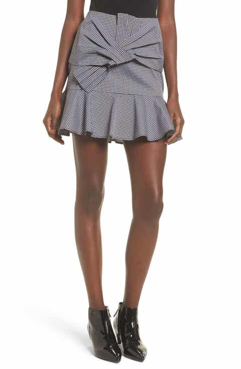 WAYF Sanders Ruffle Miniskirt