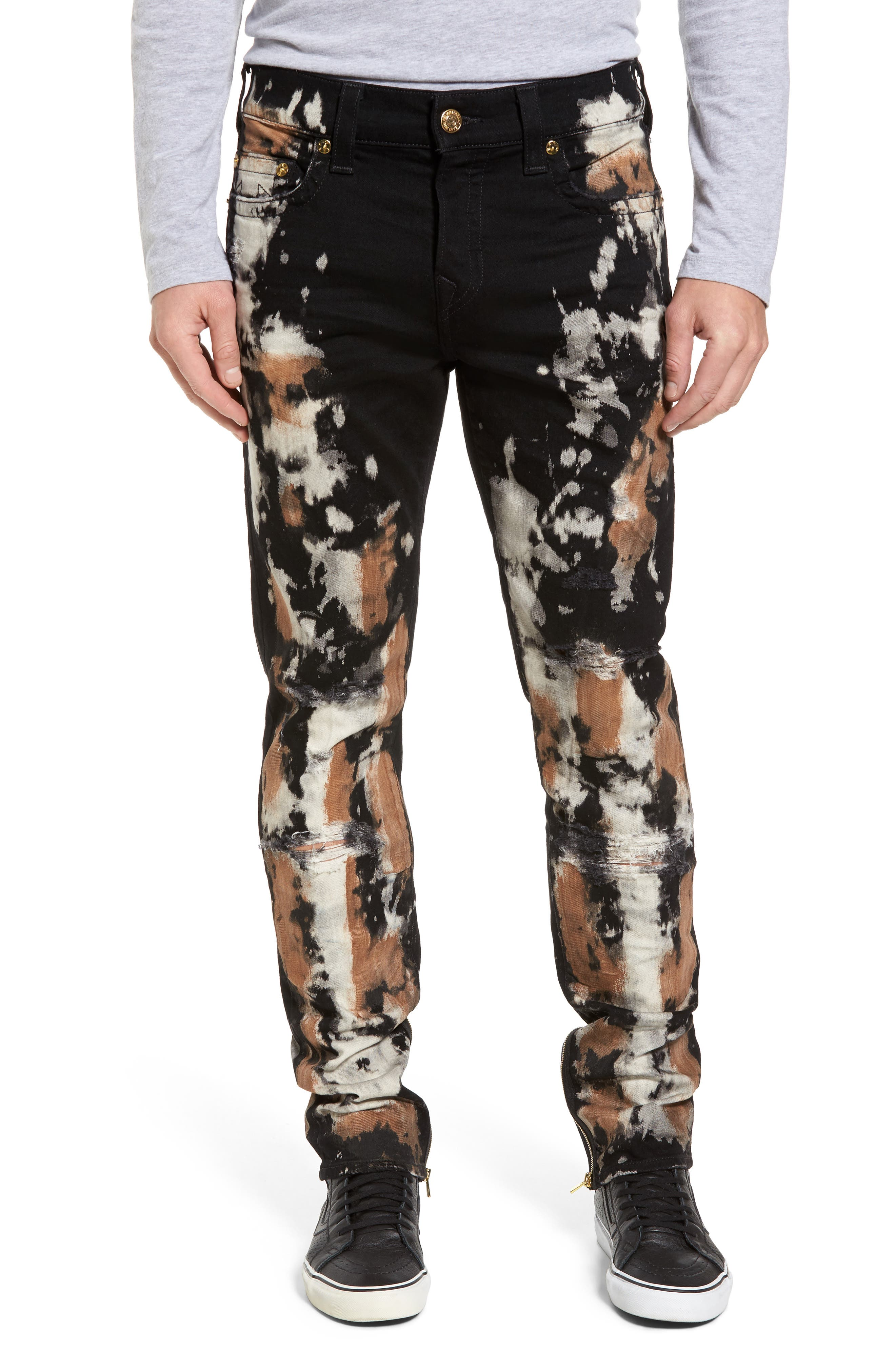 Main Image - True Religion Brand Jeans Rocco Skinny Fit Jeans (Worn Moon Storm)