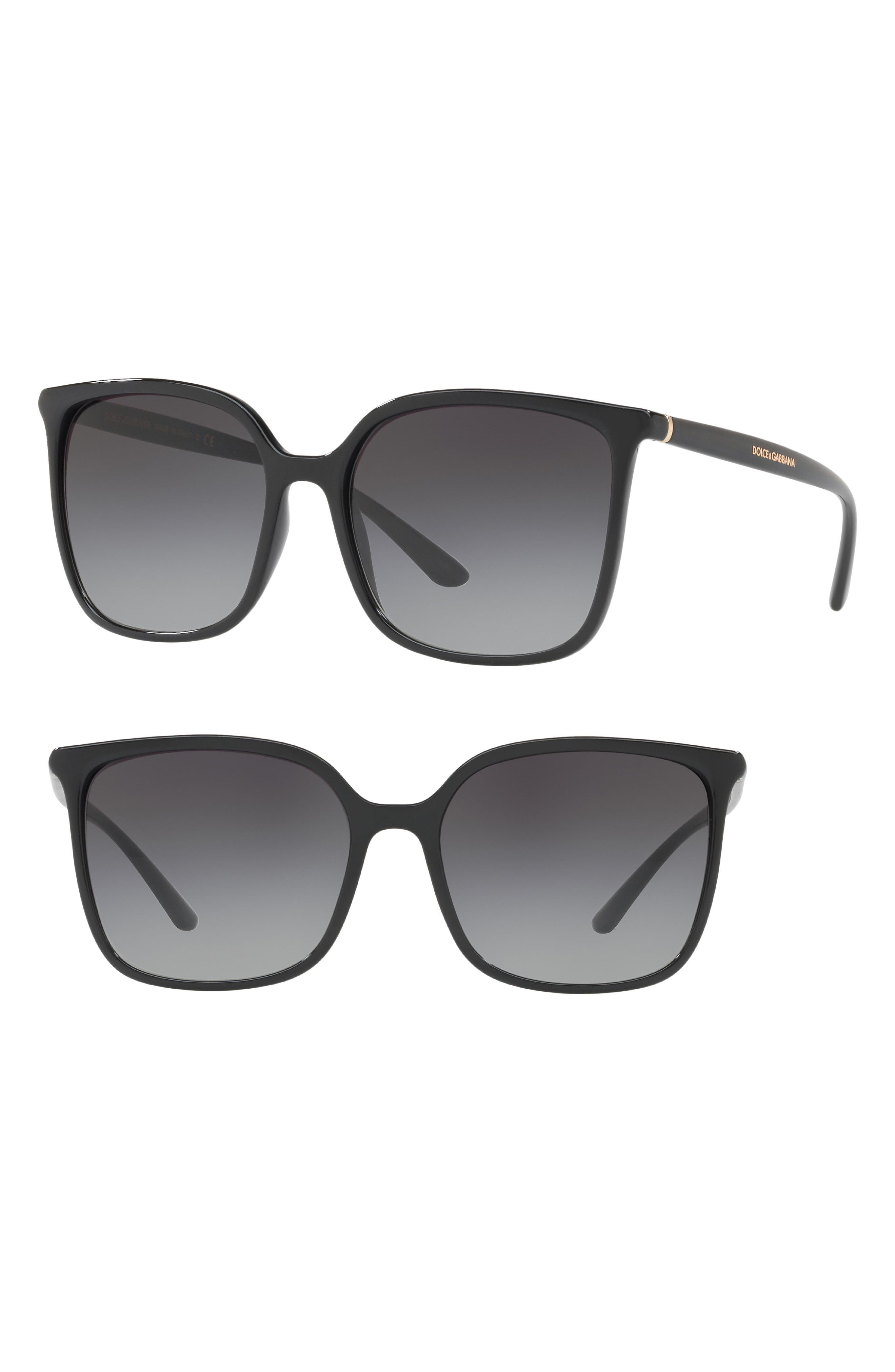 Dolce&Gabbana 56mm Gradient Square Sunglasses