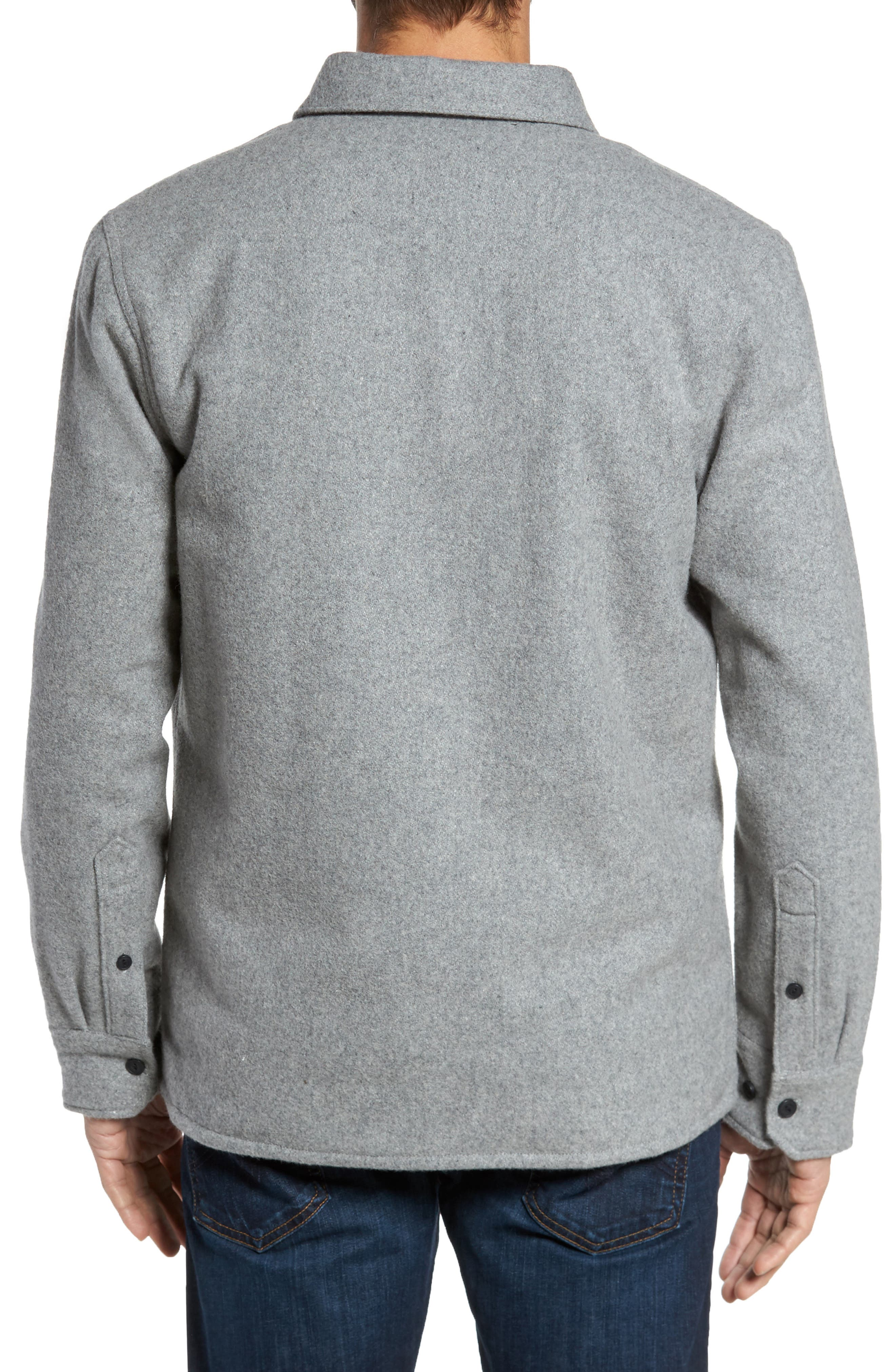 Shirt Jacket,                             Alternate thumbnail 2, color,                             Heather Grey