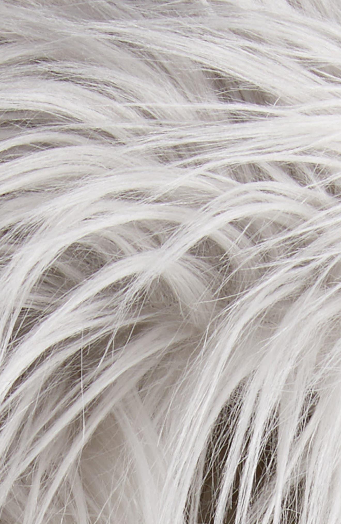 Faux Fur Pom Trapper Hat,                             Alternate thumbnail 2, color,                             Silver