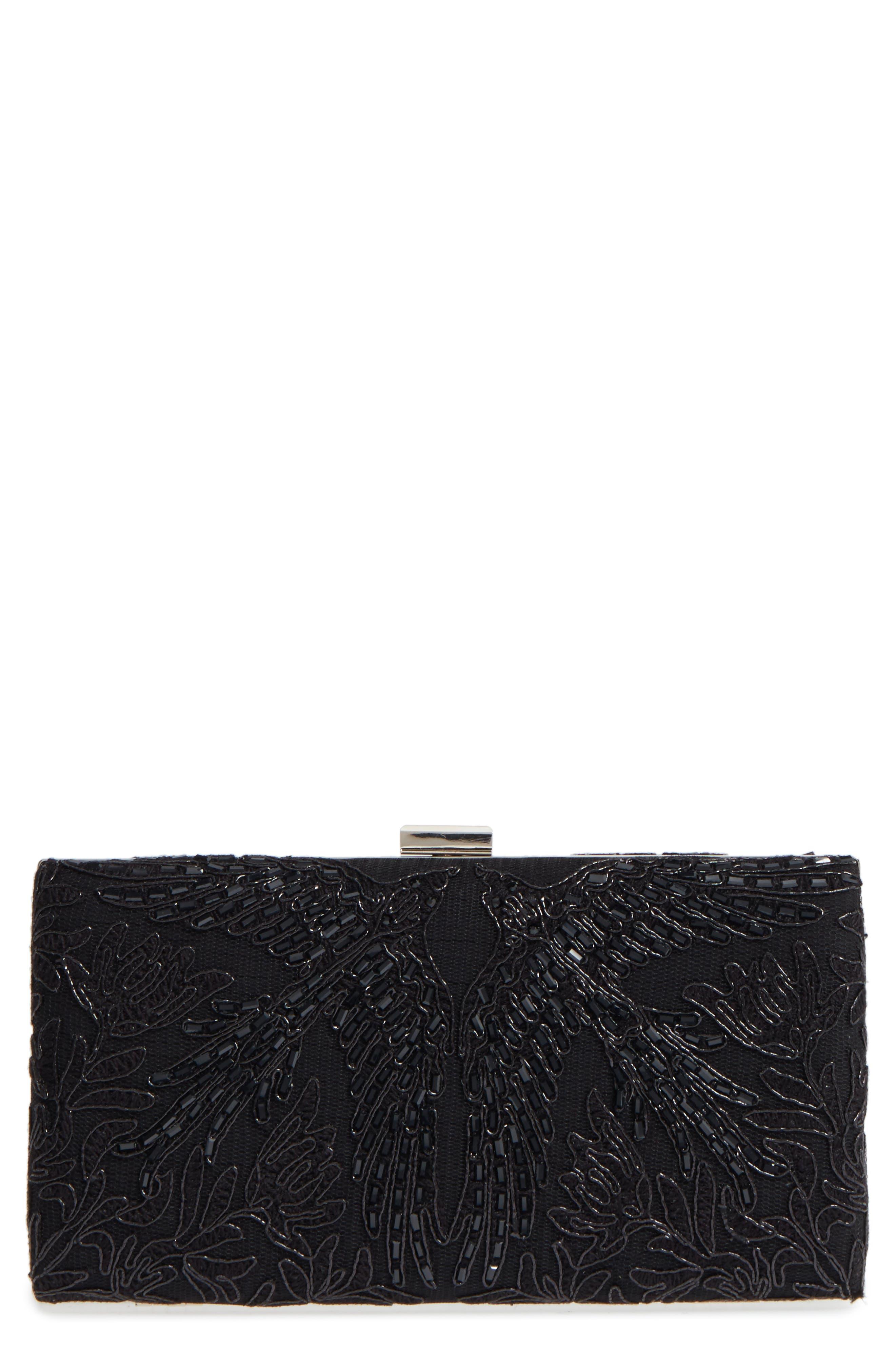 Lace Clutch,                         Main,                         color, Black