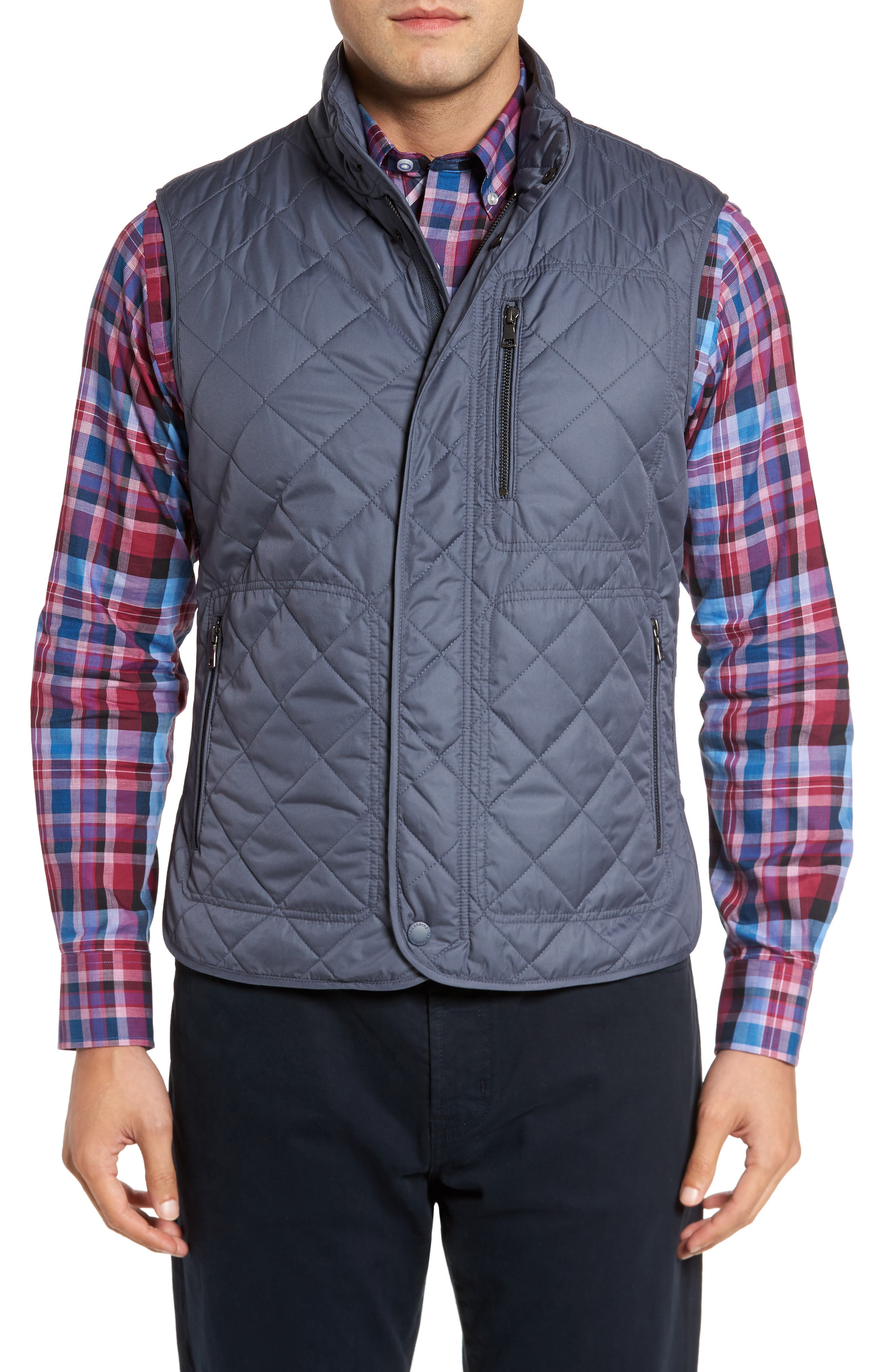 Heflin Quilted Vest,                             Main thumbnail 1, color,                             Slate