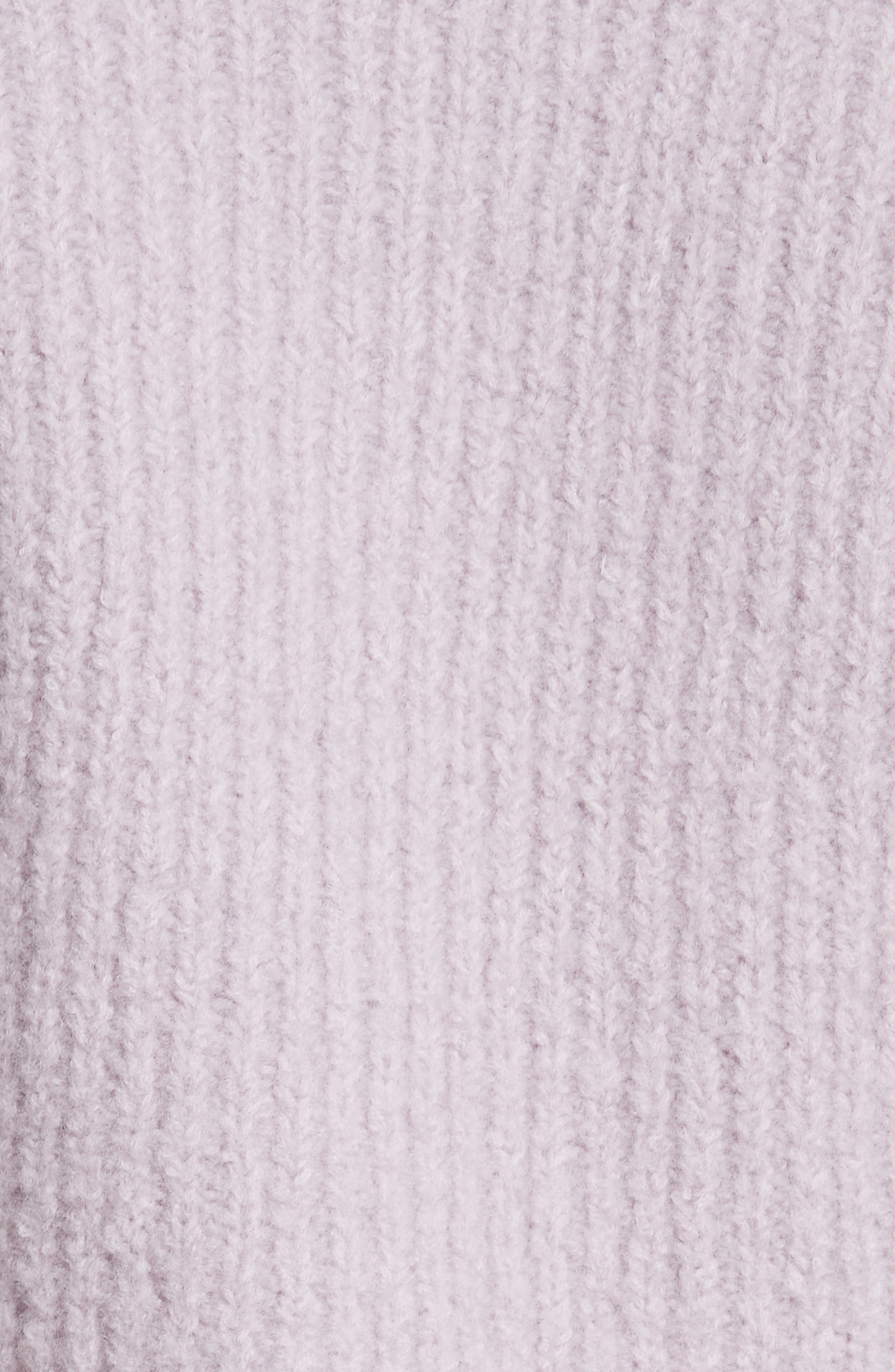 Wool Tunic Sweater,                             Alternate thumbnail 5, color,                             Lavendar