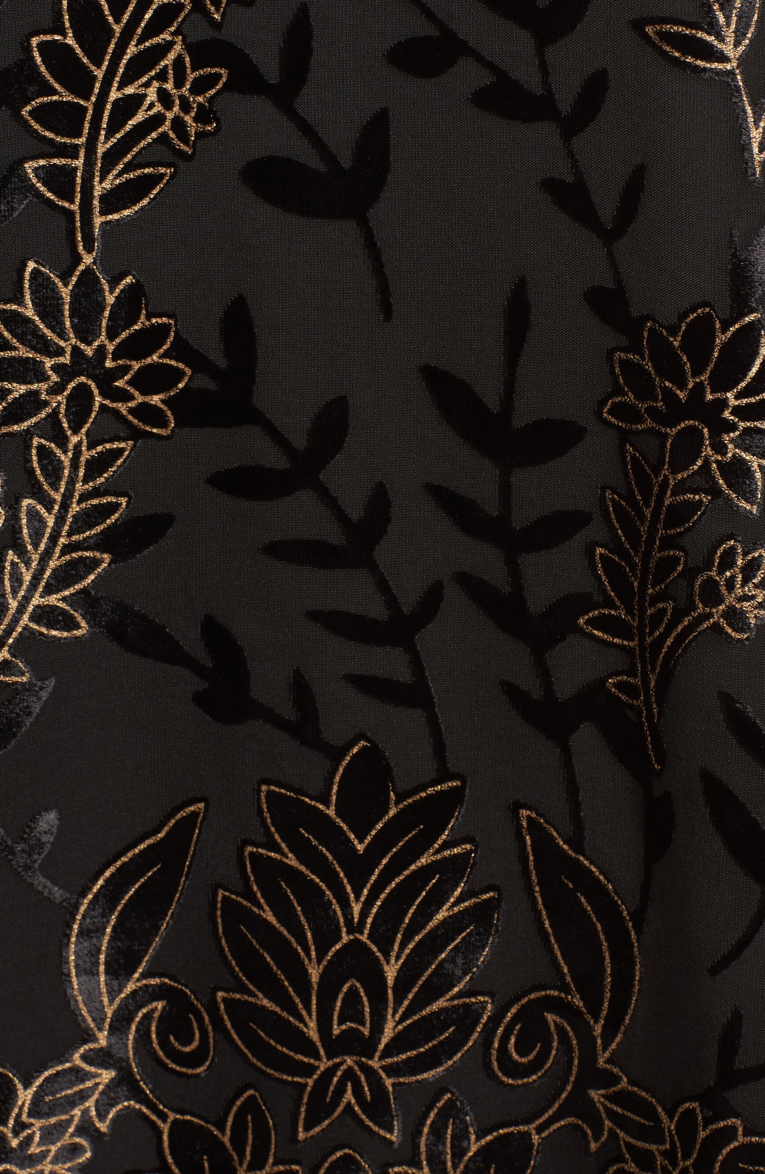 Merci Halter Dress,                             Alternate thumbnail 5, color,                             Black