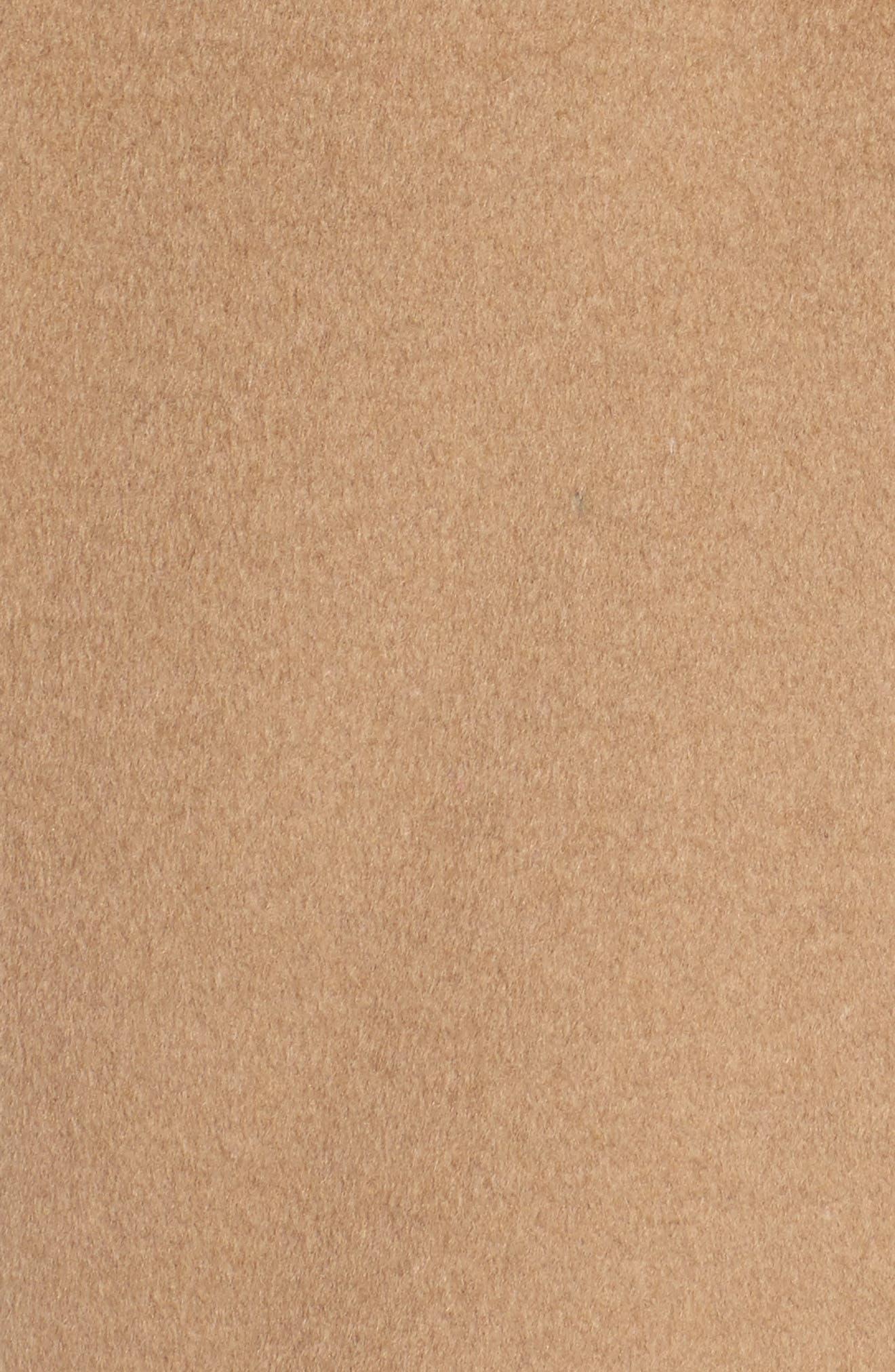 DKNY Wool Blend Shawl Collar Wrap Coat,                             Alternate thumbnail 5, color,                             Camel