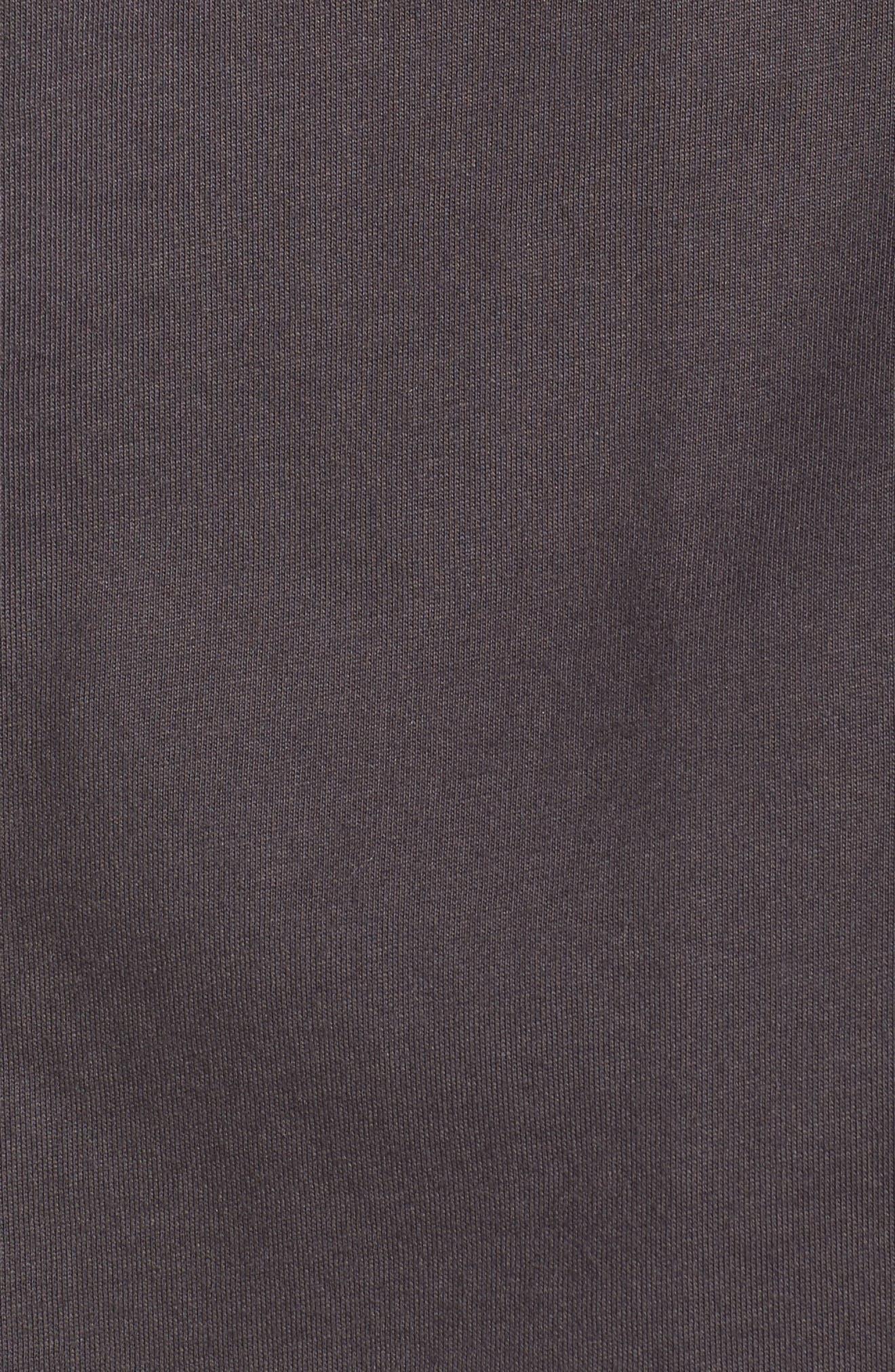 Bliss Supima<sup>®</sup> Cotton Mandarin Pajamas,                             Alternate thumbnail 5, color,                             Graphite