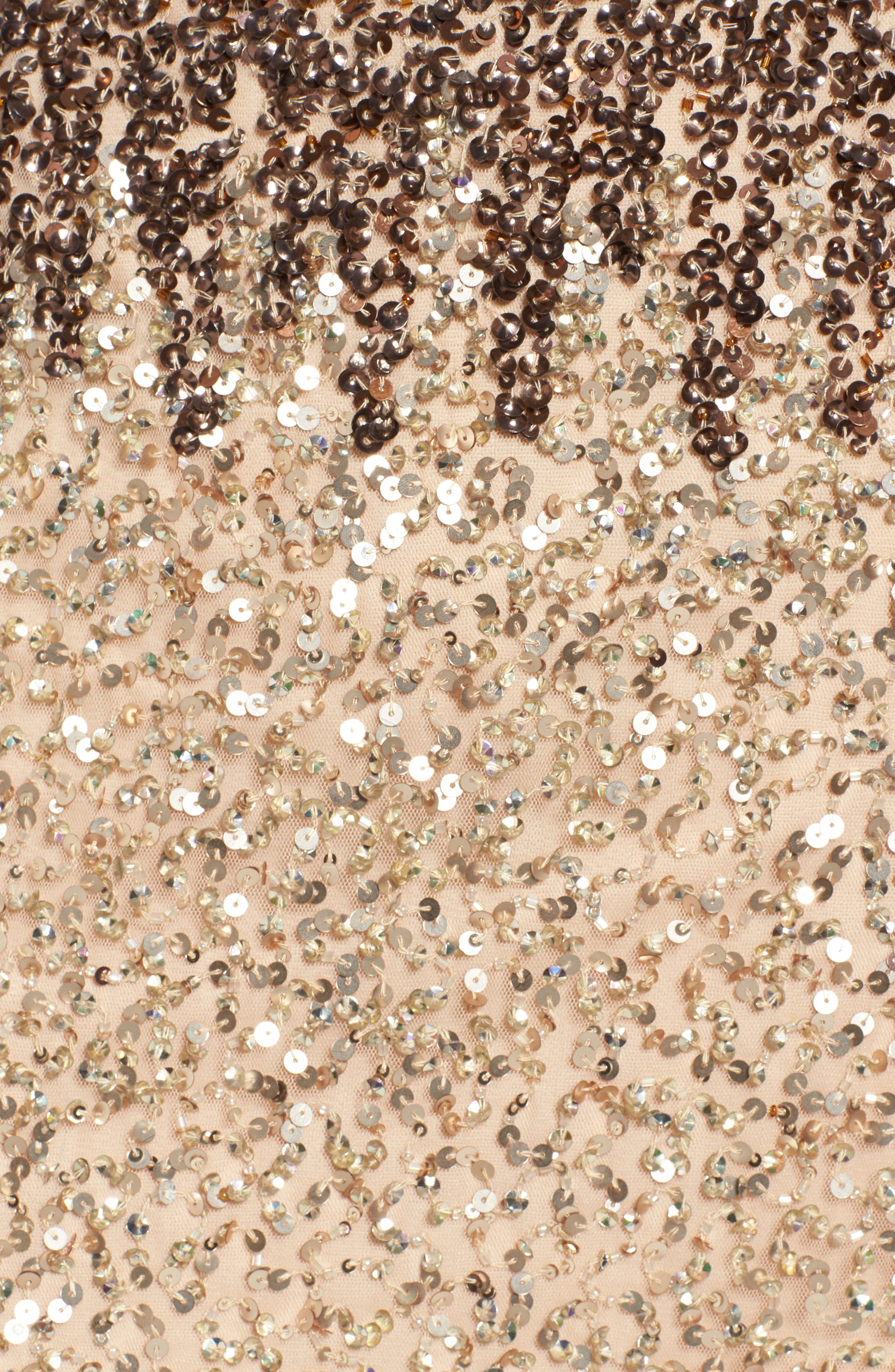 Sequins and Champagne Dress,                             Alternate thumbnail 5, color,                             Beige