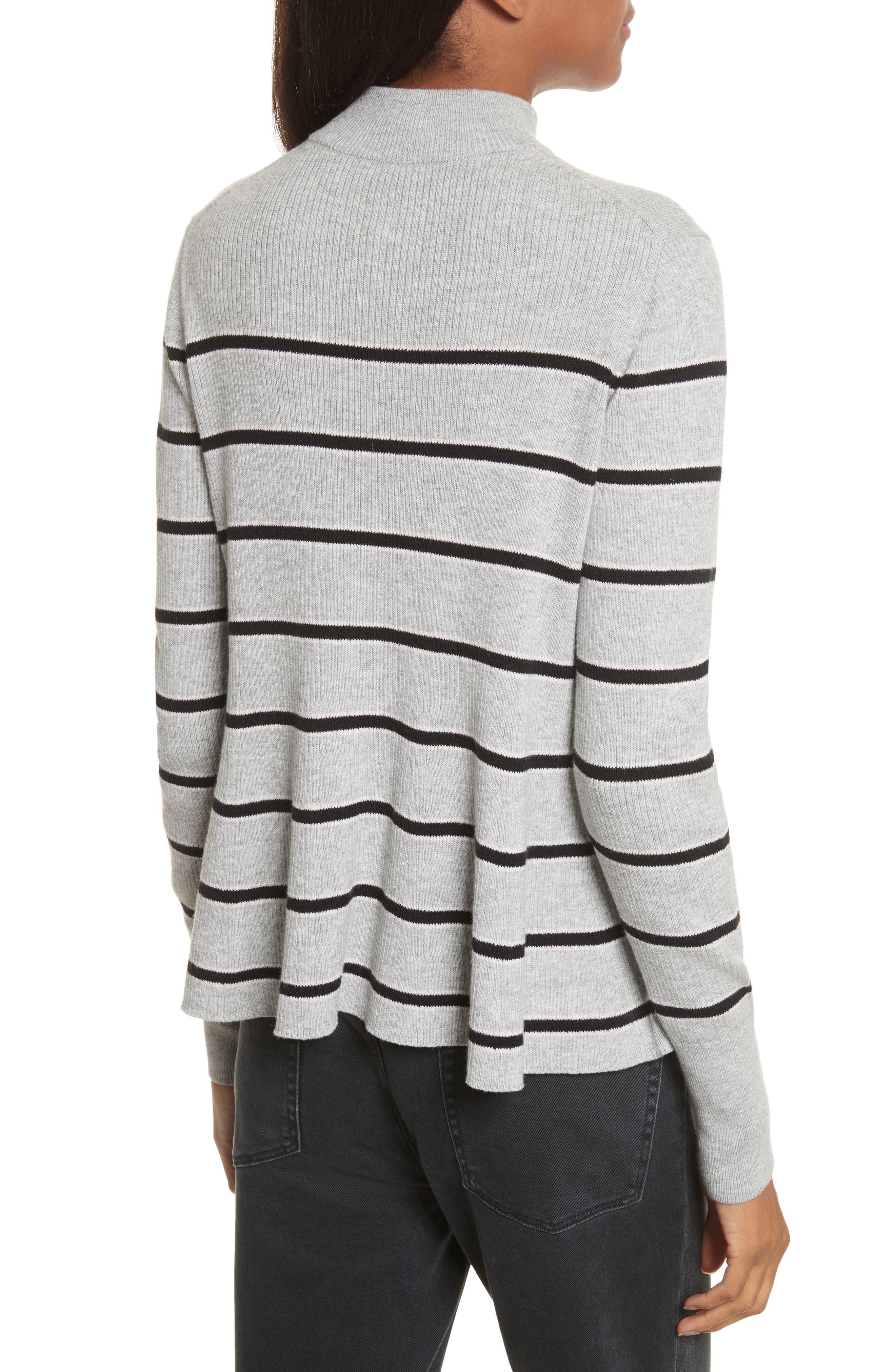 Alternate Image 2  - La Vie Rebecca Taylor Mock Neck Stripe Pullover