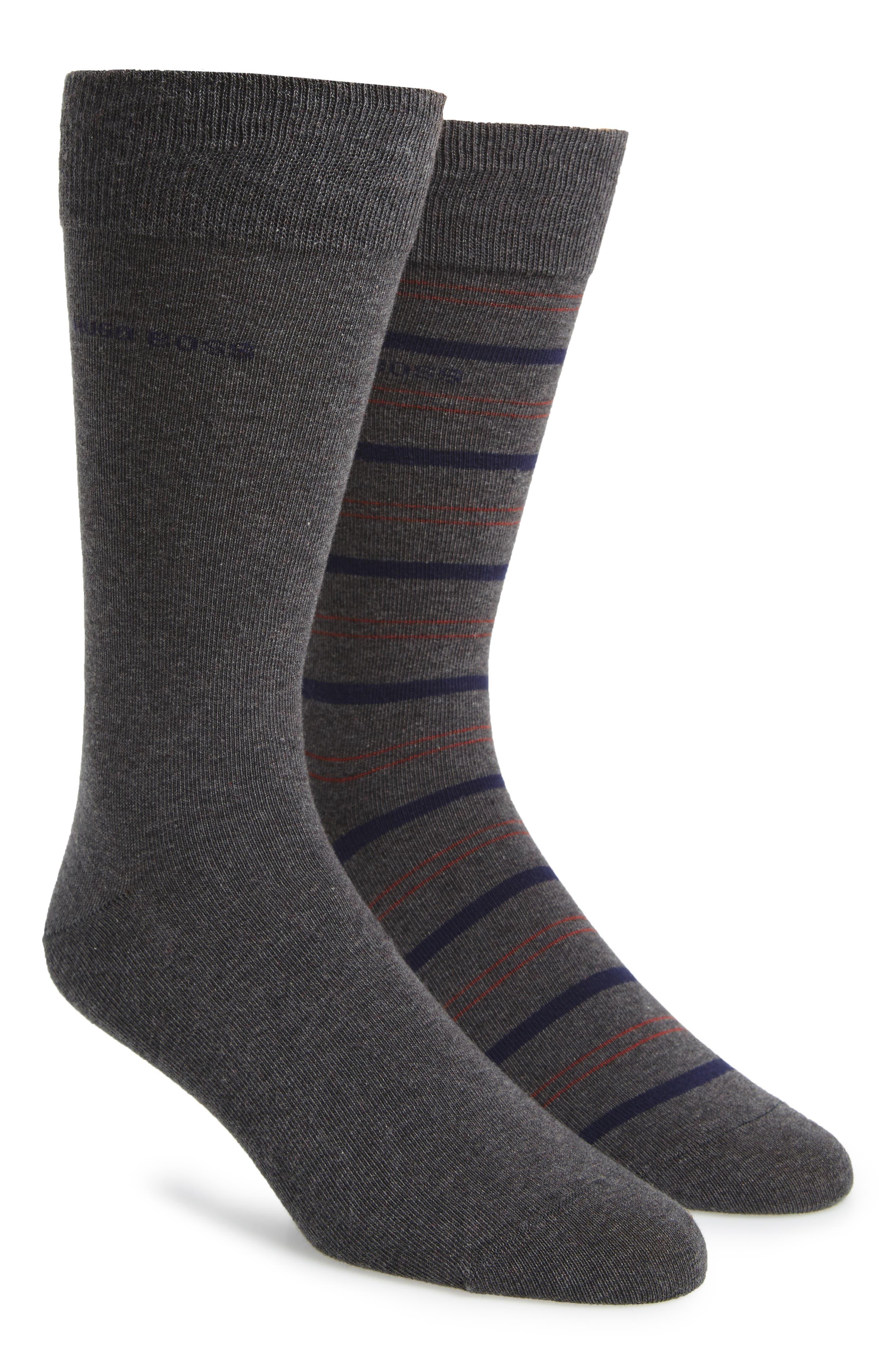 2-Pack Socks,                         Main,                         color, Medium Grey