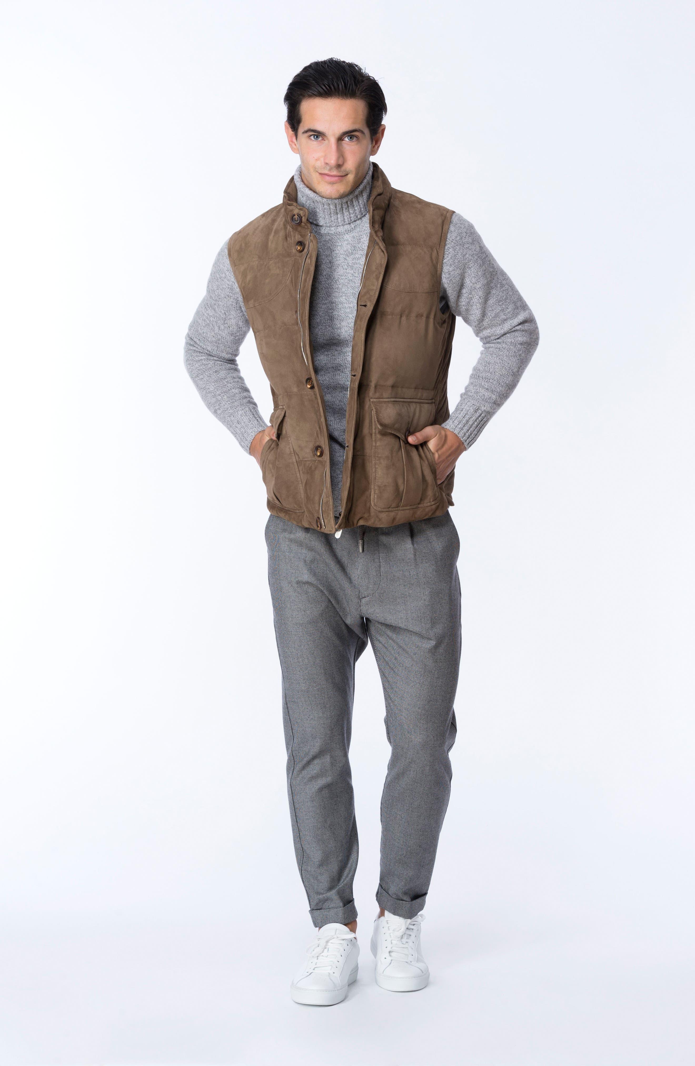 Marled Turtleneck Sweater,                             Alternate thumbnail 7, color,                             Light Grey/ Dark Grey