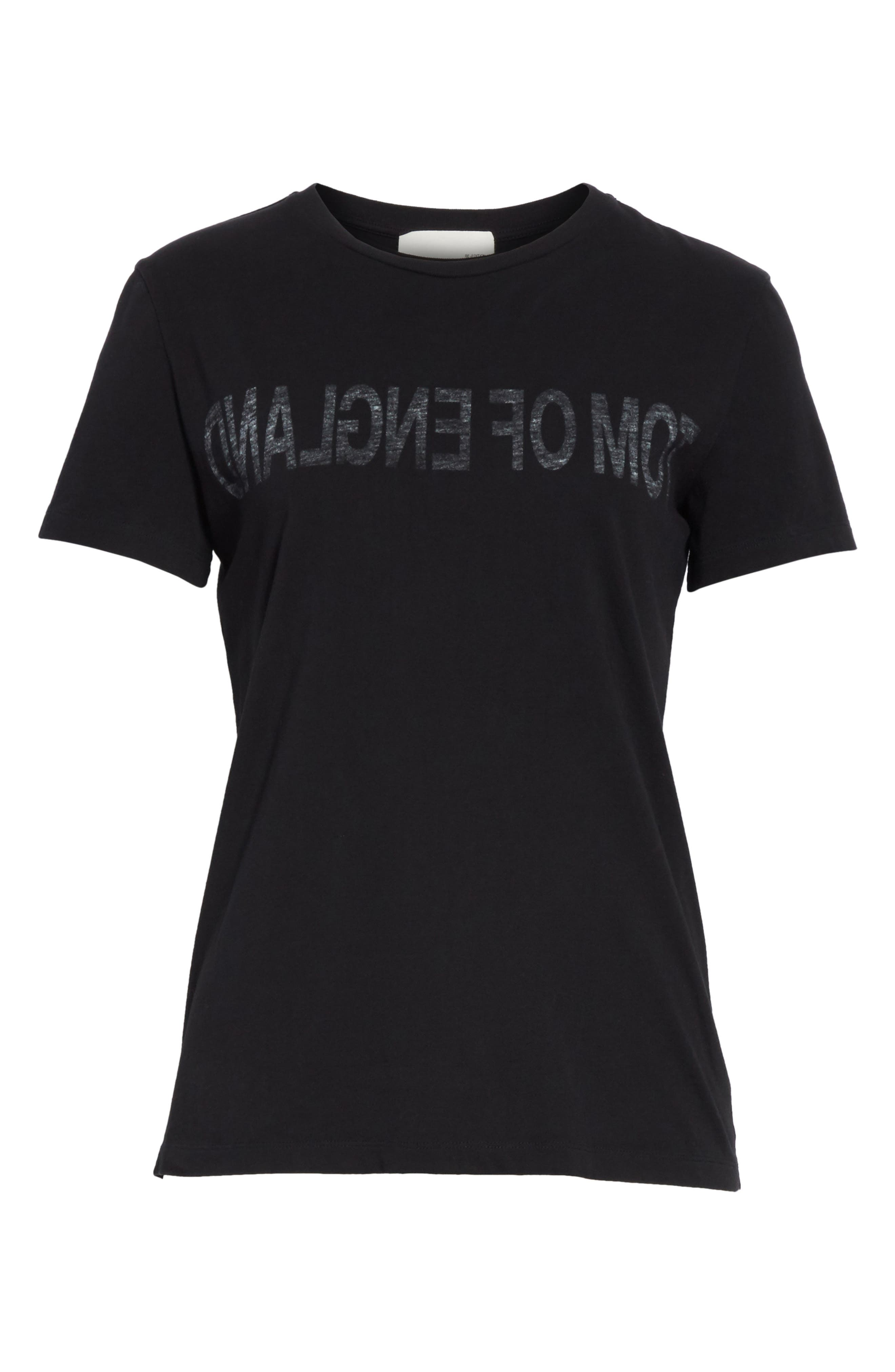 Re-Edition Tom of England Tee,                             Alternate thumbnail 6, color,                             Black