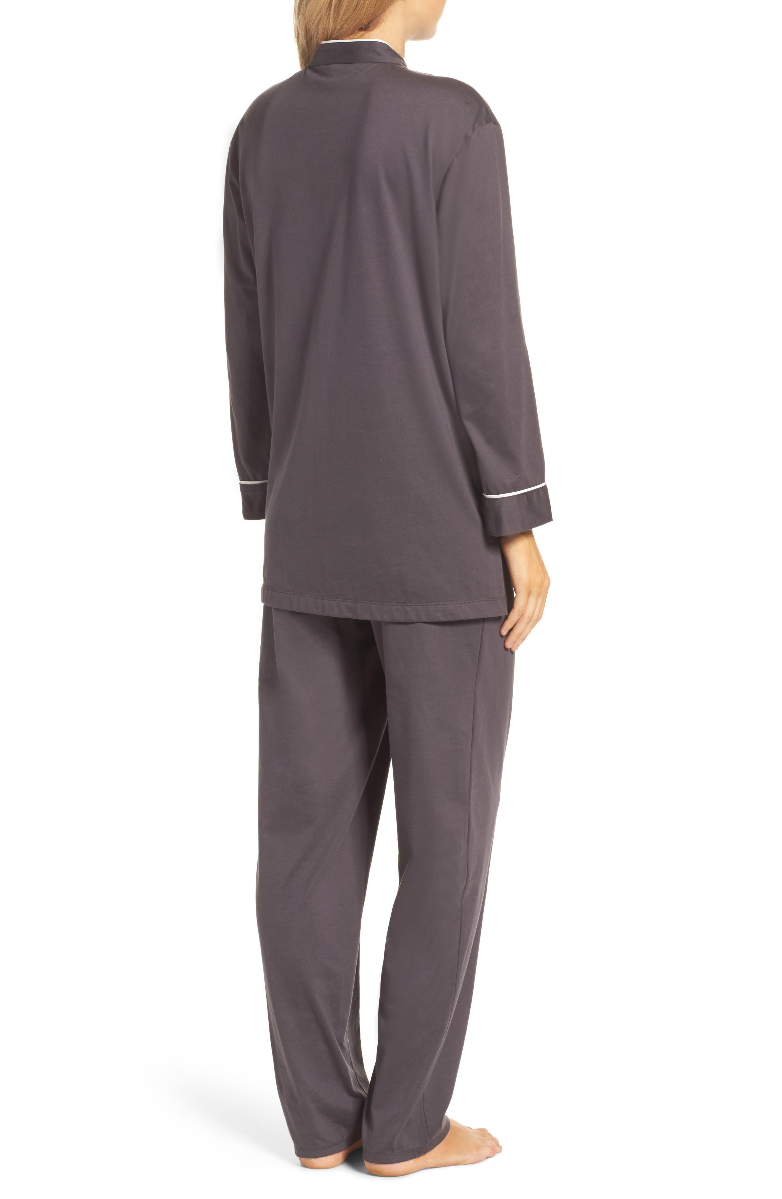 Bliss Supima<sup>®</sup> Cotton Mandarin Pajamas,                             Alternate thumbnail 2, color,                             Graphite