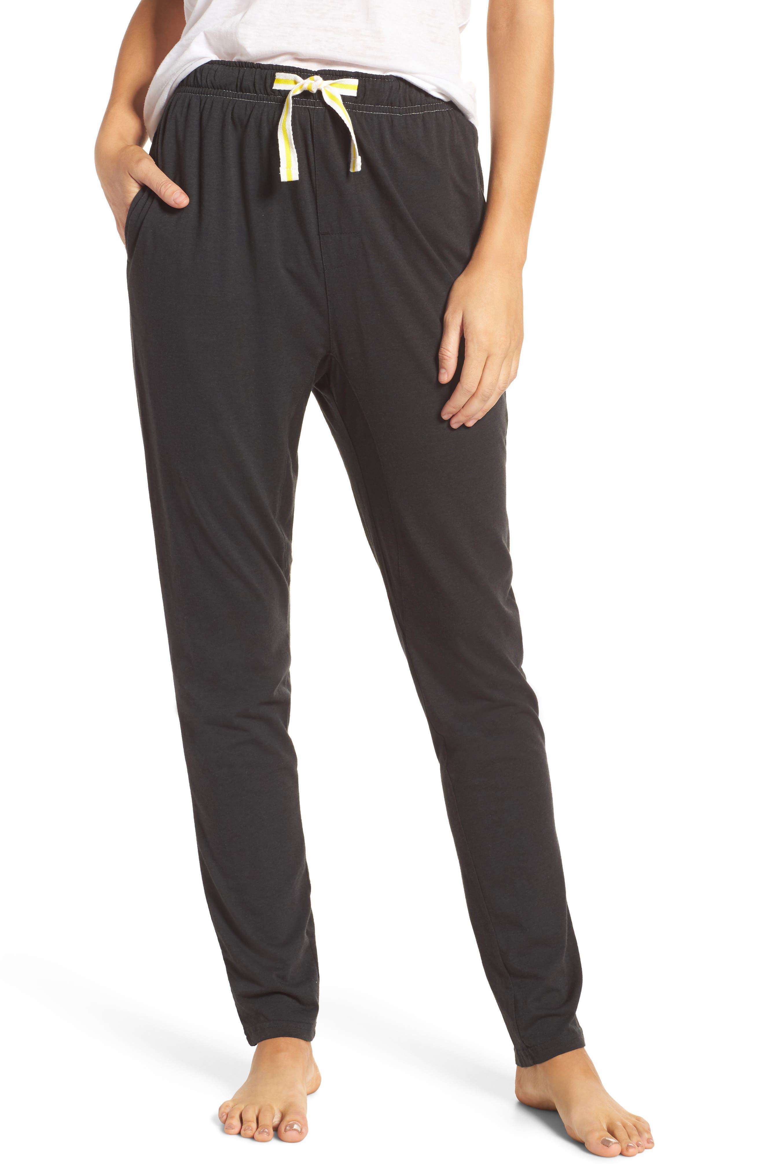 Alice Lounge Pants,                         Main,                         color, Plain Black Marle