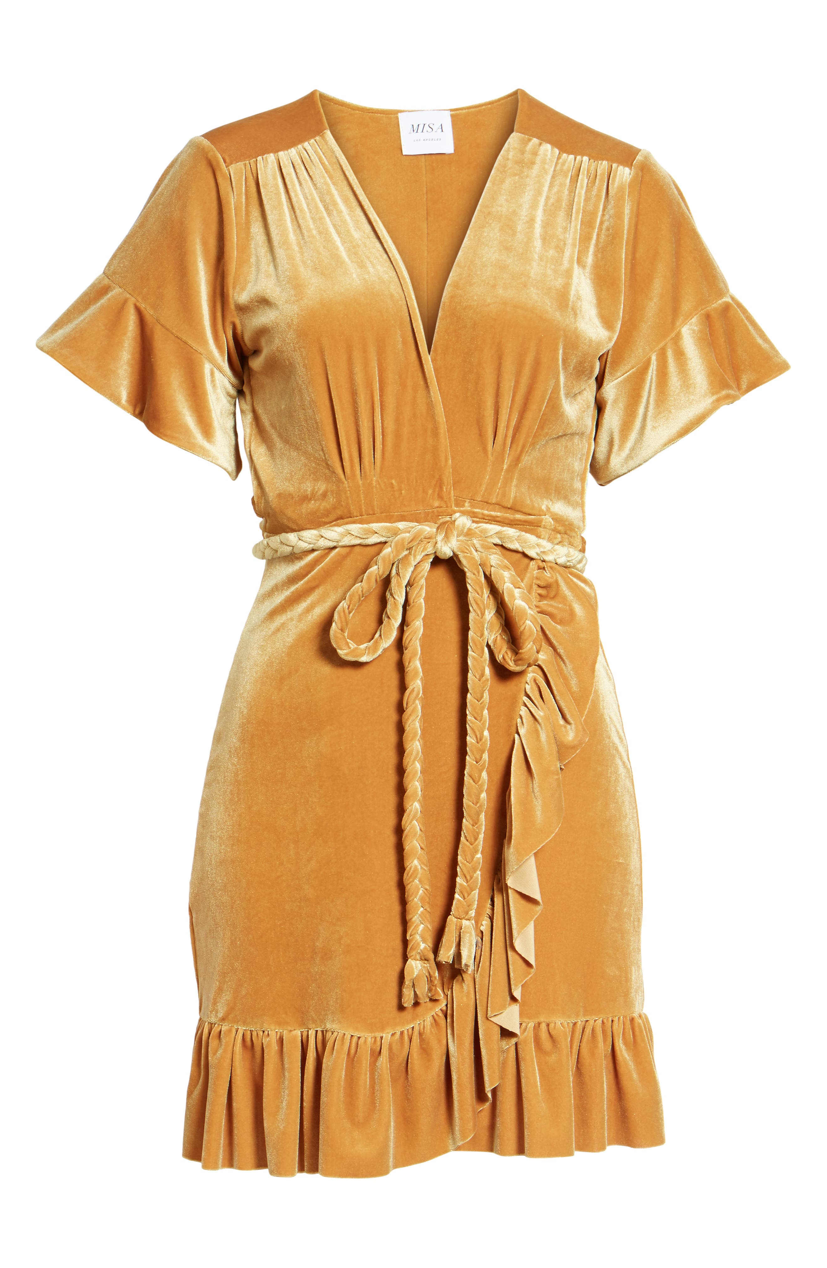 Alternate Image 6  - MISA Los Angeles Desma Velvet Wrap Minidress