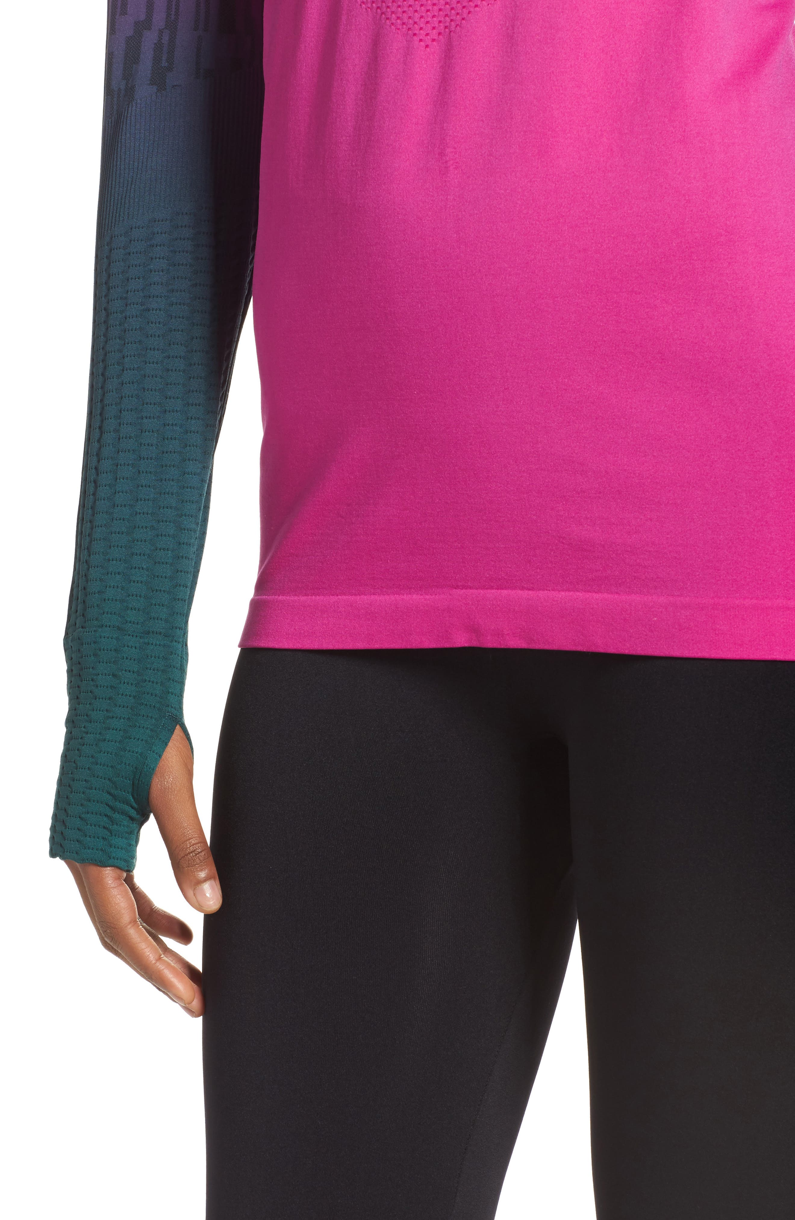 Odyssey Running Tee,                             Alternate thumbnail 4, color,                             Pink/ Nocturne Green