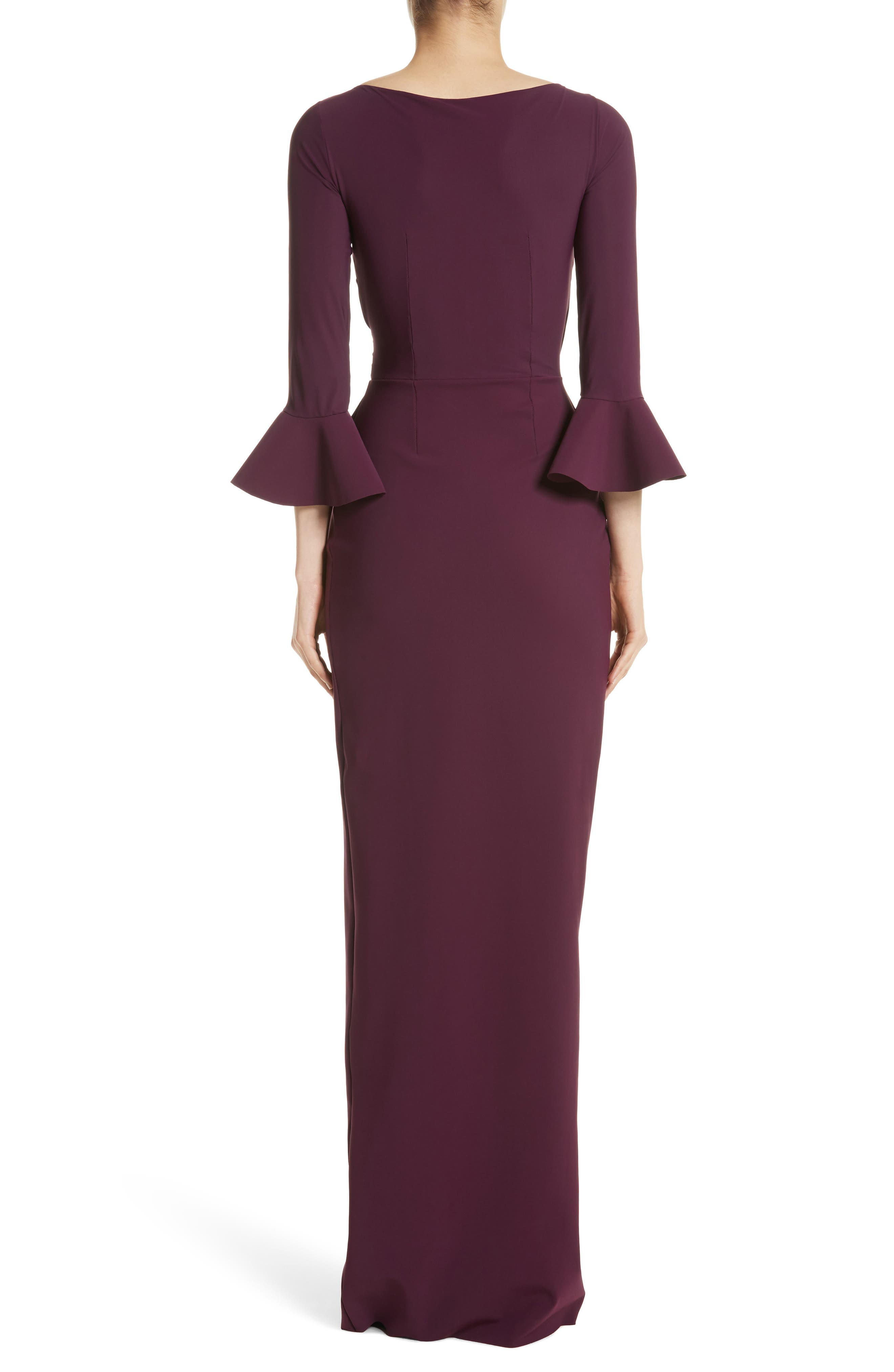 Alternate Image 2  - Chiara Boni La Petite Robe Ruffle Cuff Side Drape Gown