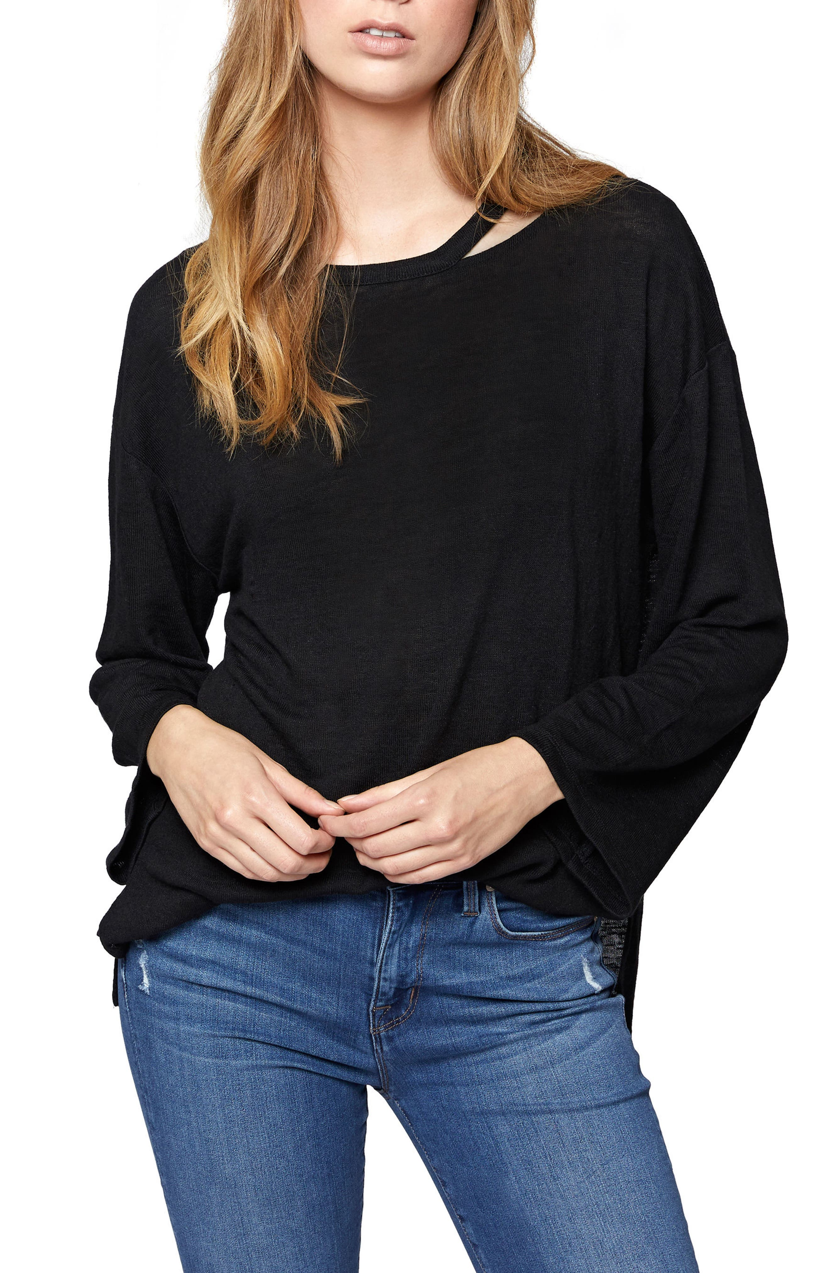 Alternate Image 1 Selected - Sancuary Cheyanne Cutout Neck Top