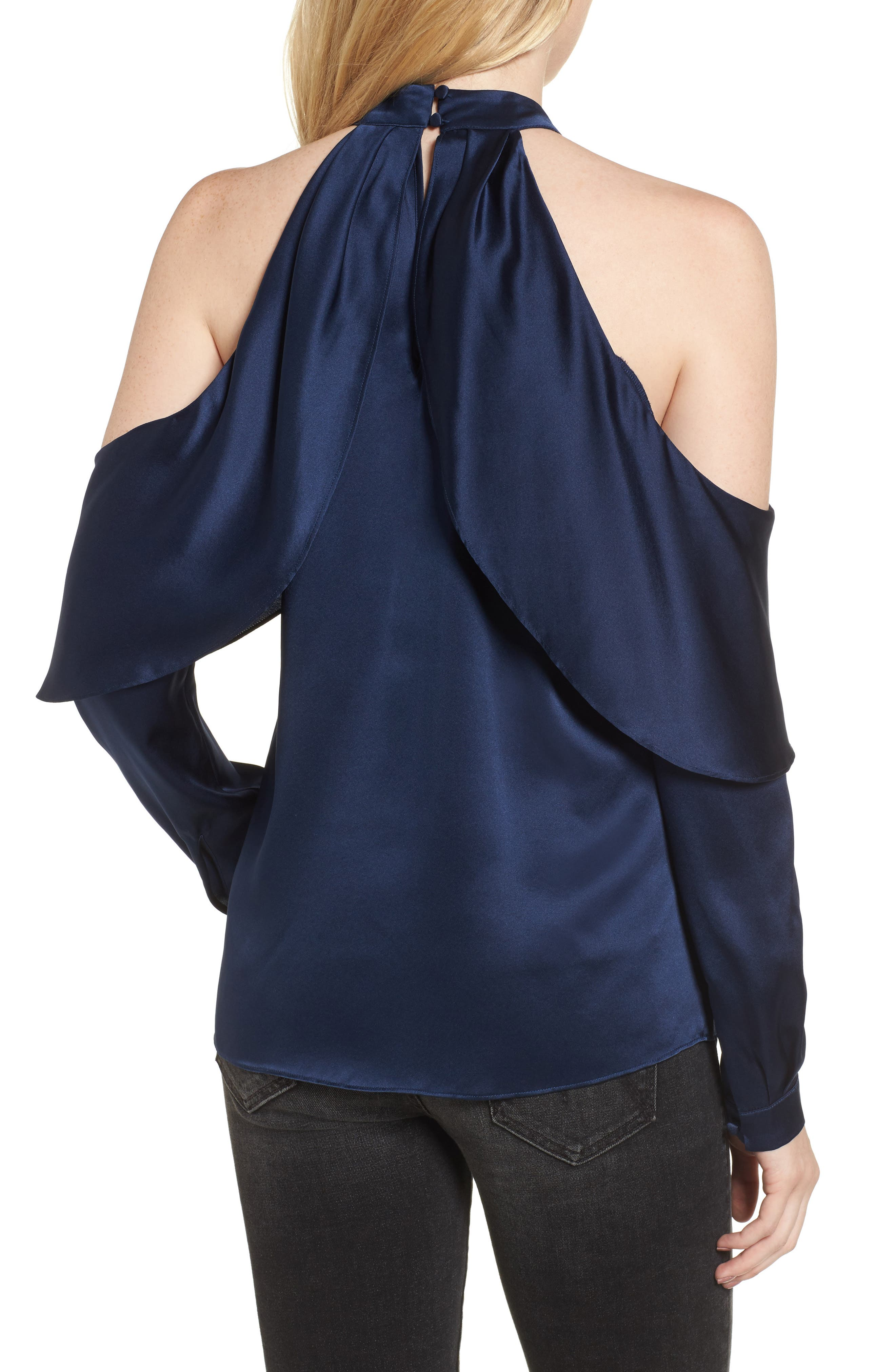 Alternate Image 3  - Parker Sonelle Silk Cold Shoulder Blouse