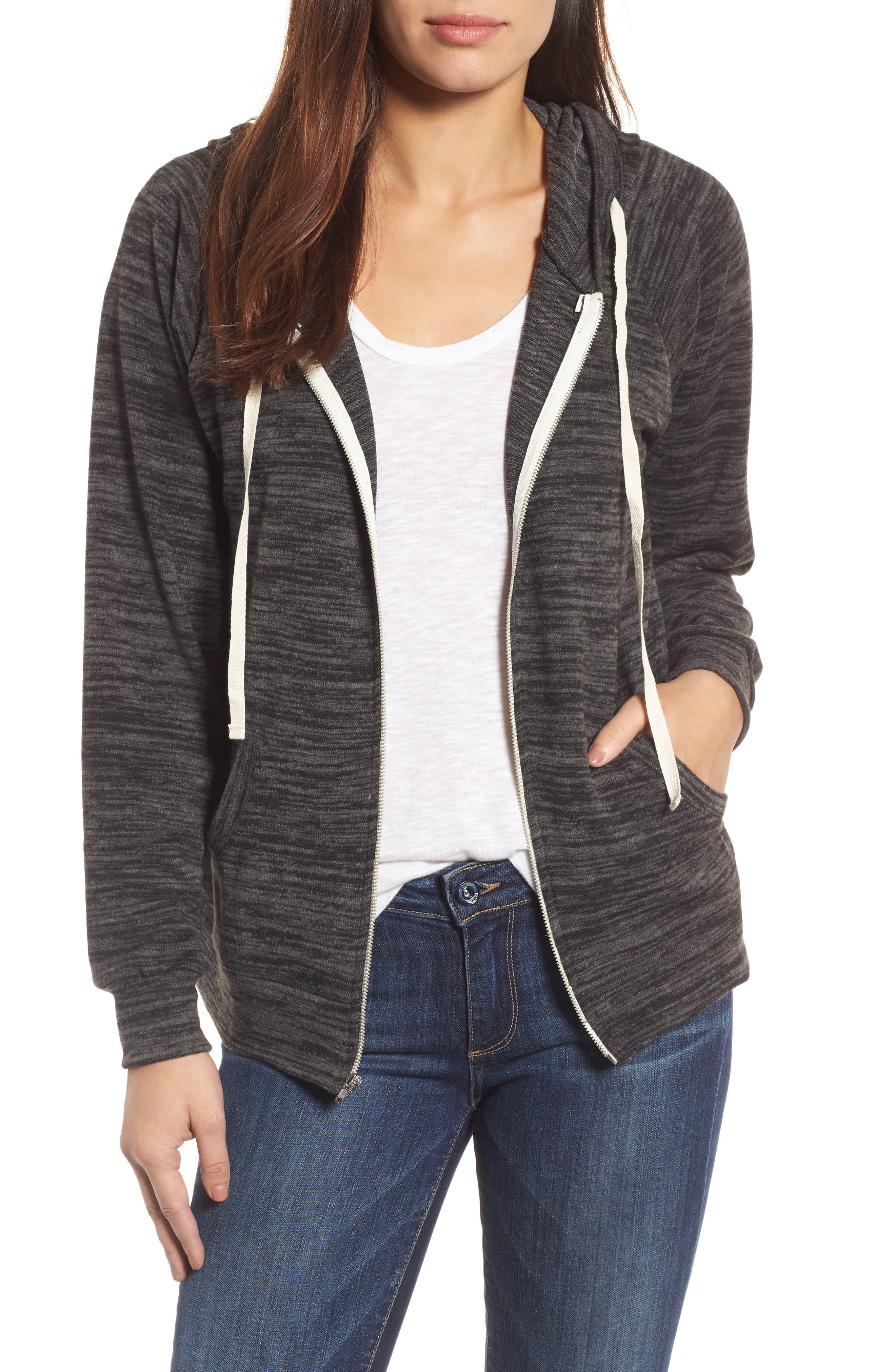 Main Image - Caslon® Zip Front Hoodie