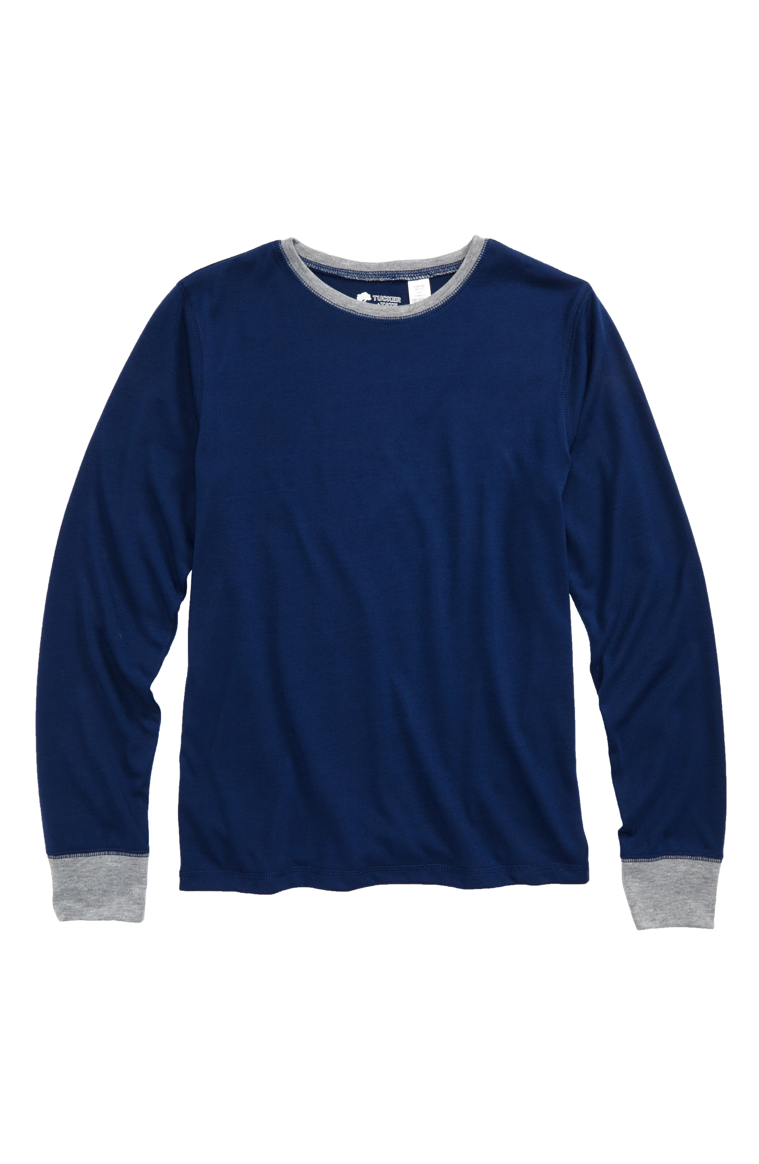 Main Image - Tucker & Tate Long Sleeve Sleep T-Shirt (Little Boys & Big Boys)