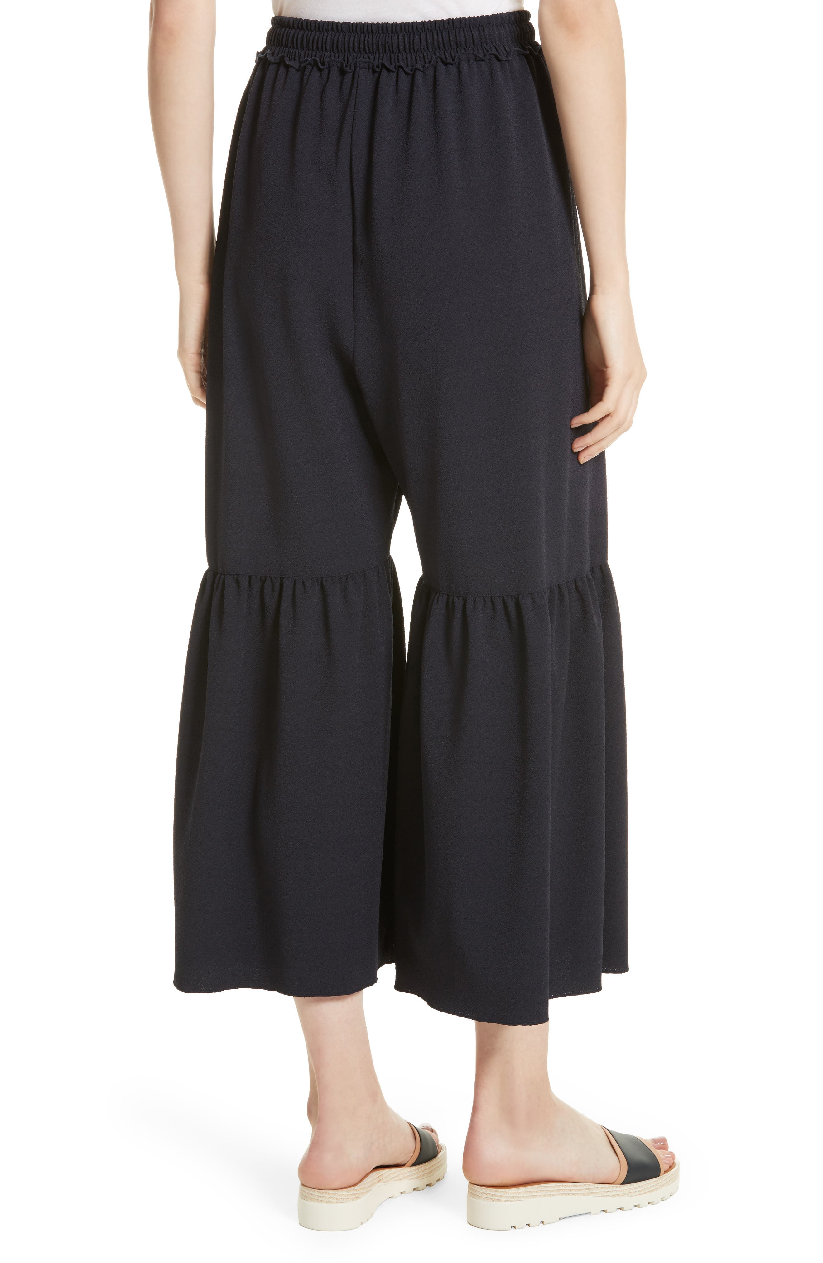 Moroccan Flare Pants,                             Alternate thumbnail 2, color,                             Navy