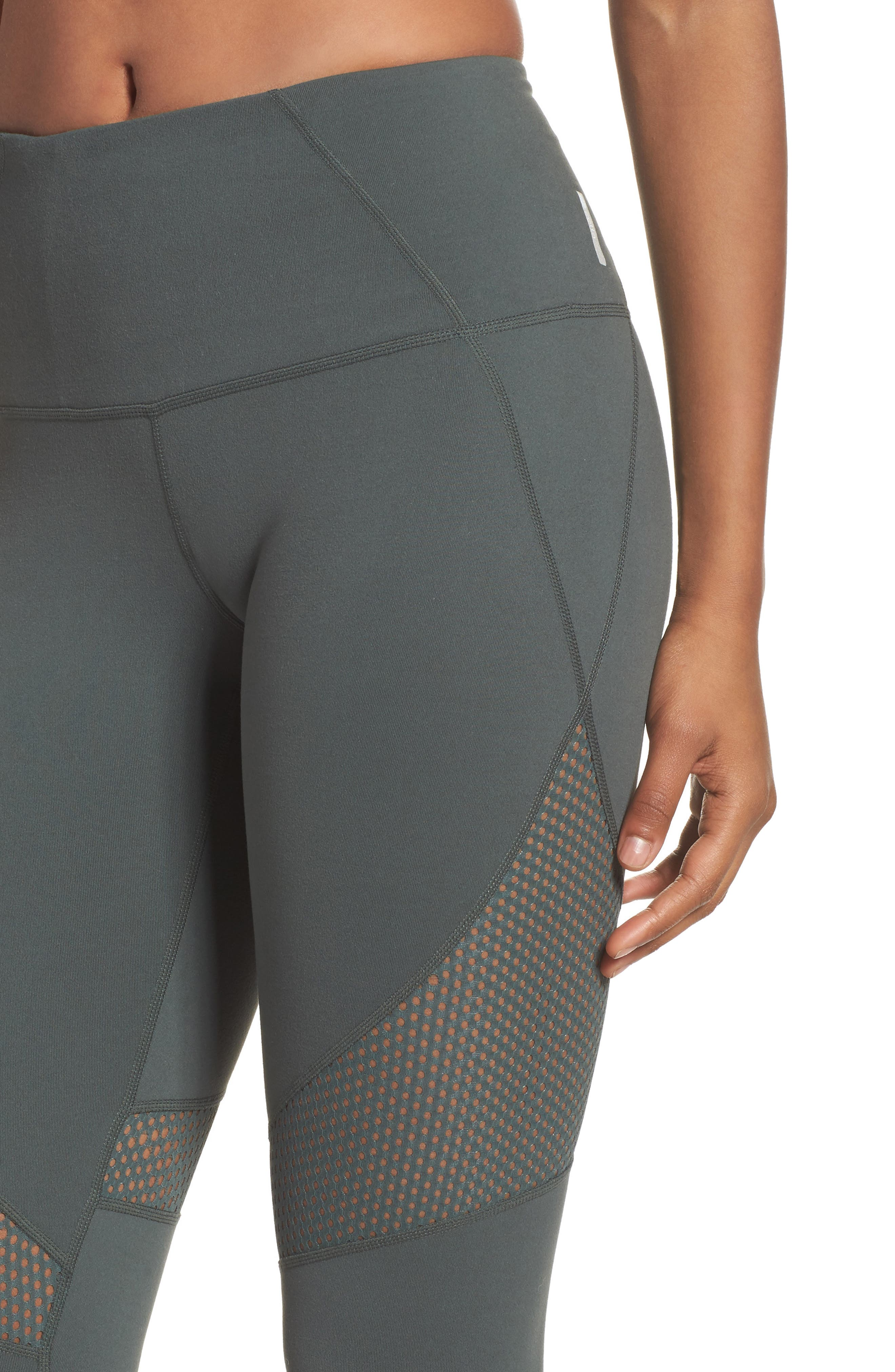 Out of Bounds High Waist Leggings,                             Alternate thumbnail 4, color,                             Grey Urban