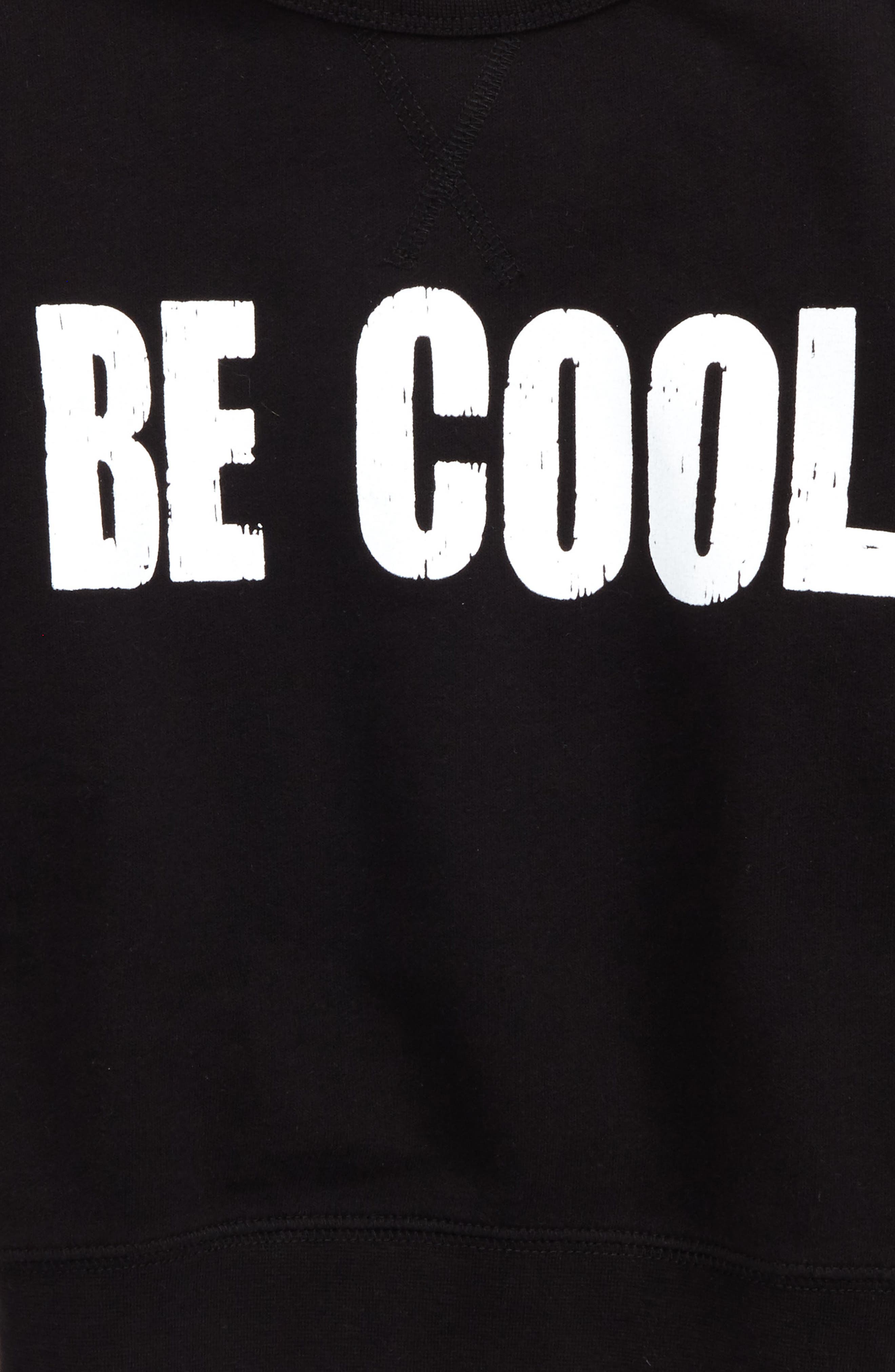 Be Cool Graphic Sweatshirt,                             Alternate thumbnail 2, color,                             Black