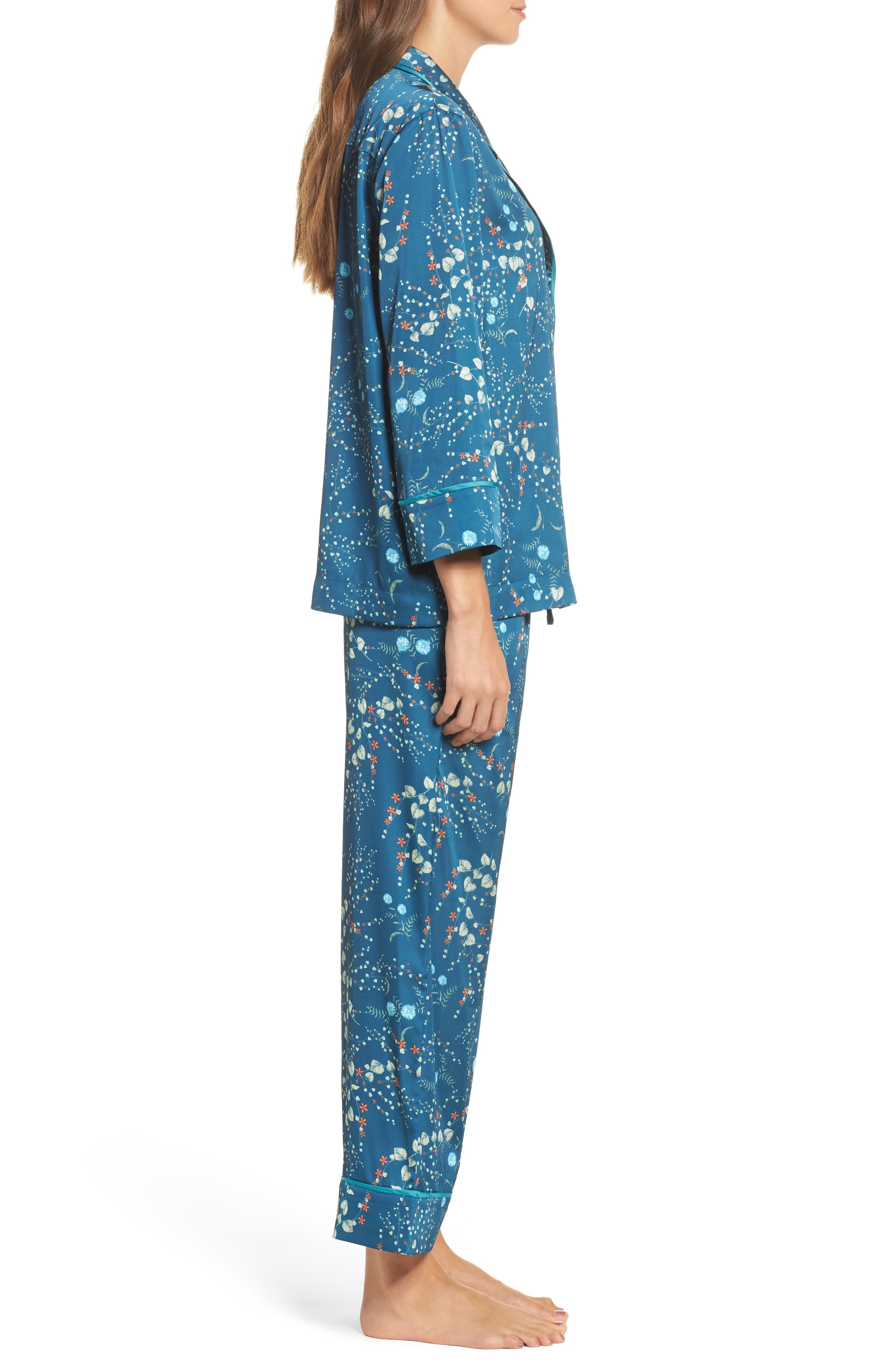 Alternate Image 3  - Bed to Brunch Botanical Crop Pajamas