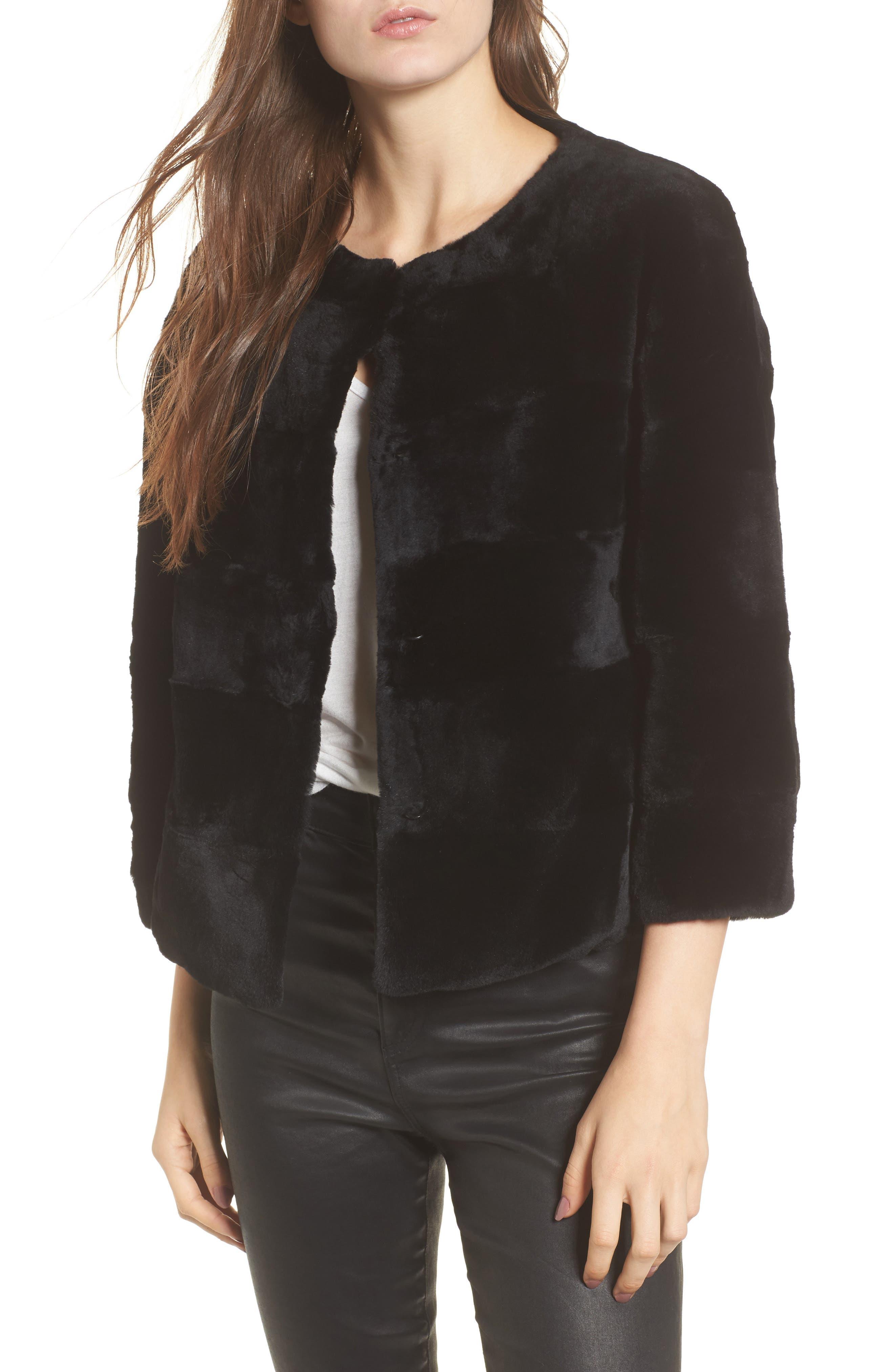Linda Richards Genuine Rex Rabbit Fur Jacket