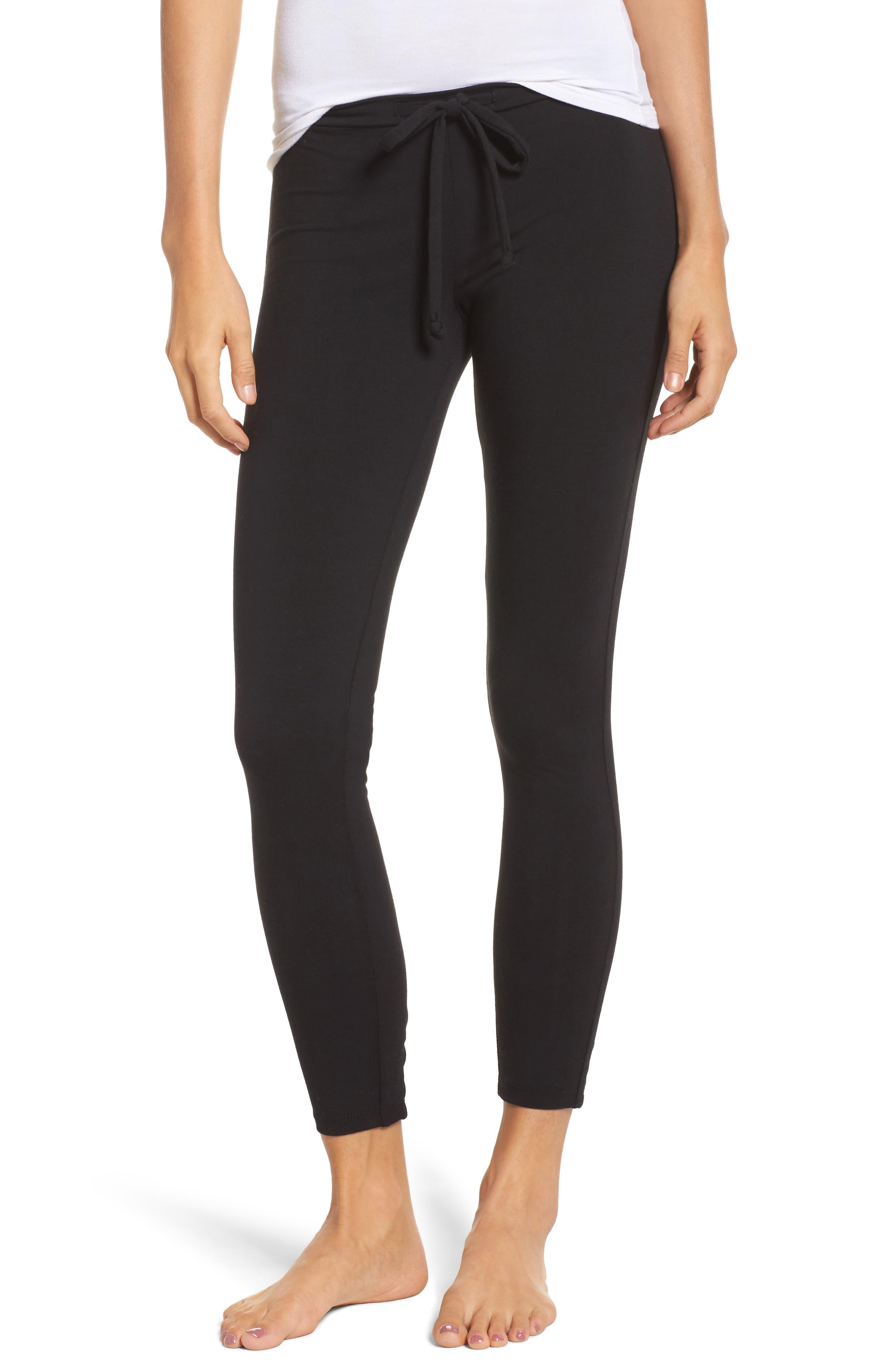 Crisscross Lounge Pants,                         Main,                         color, True Black