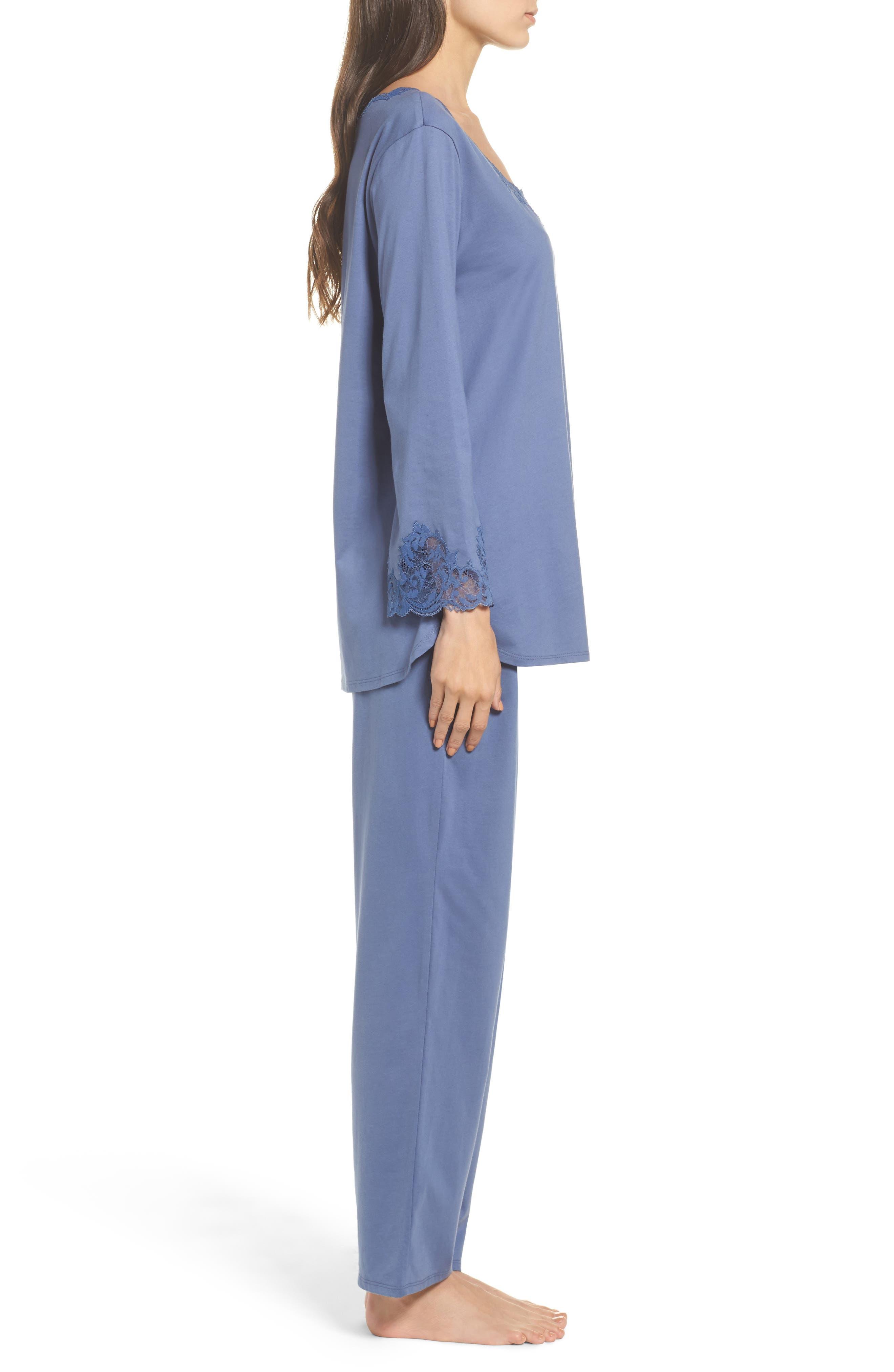 Bliss Supima<sup>®</sup> Cotton Pajamas,                             Alternate thumbnail 3, color,                             Blue Haze
