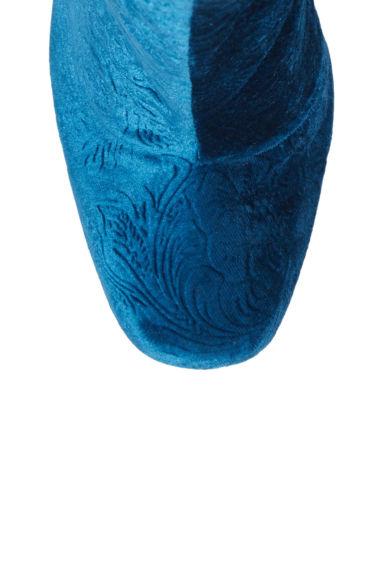 Nadonna Bootie,                             Alternate thumbnail 5, color,                             Teal Fabric