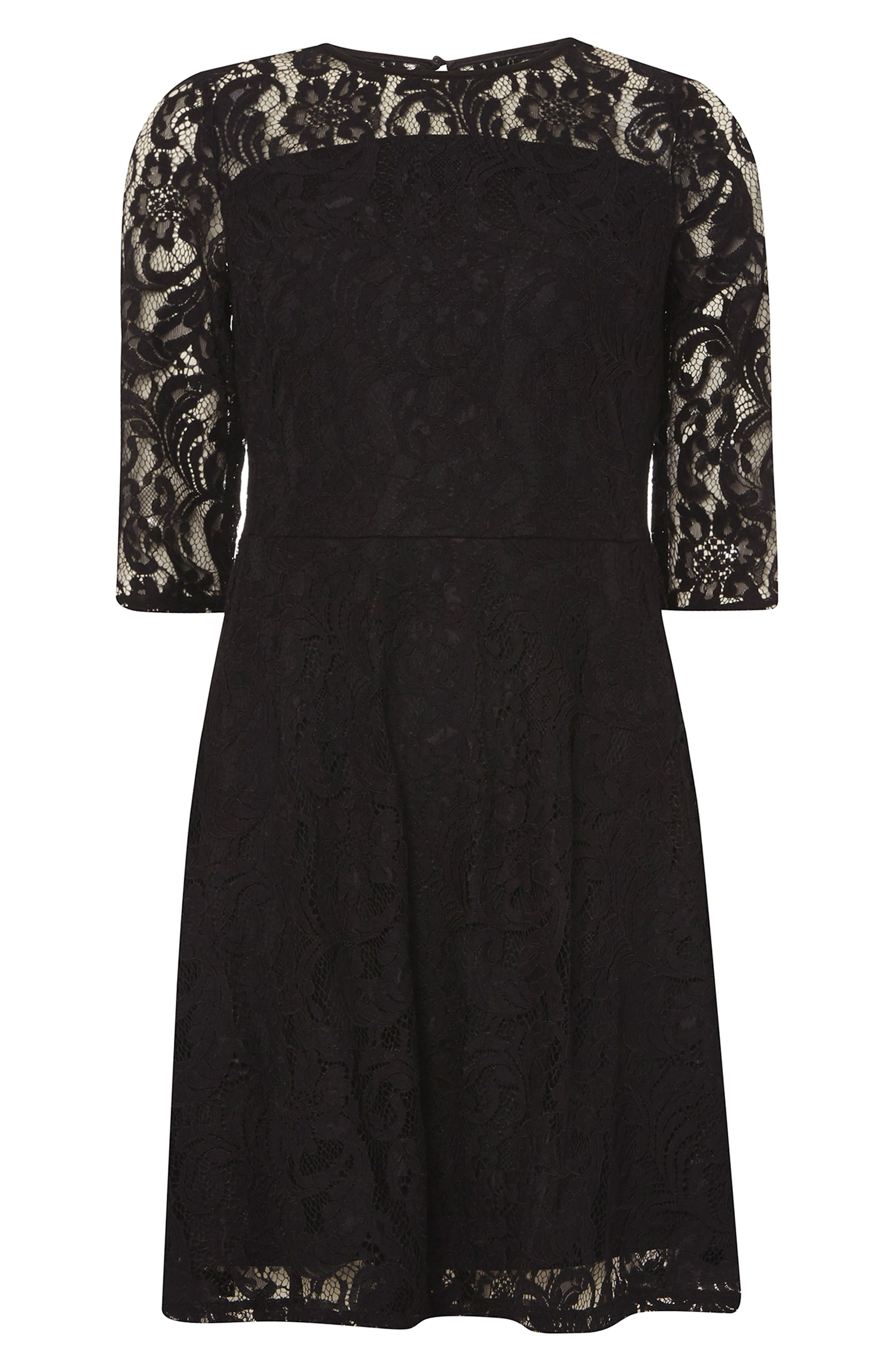 Alternate Image 8  - Dorothy Perkins Lace Fit & Flare Dress