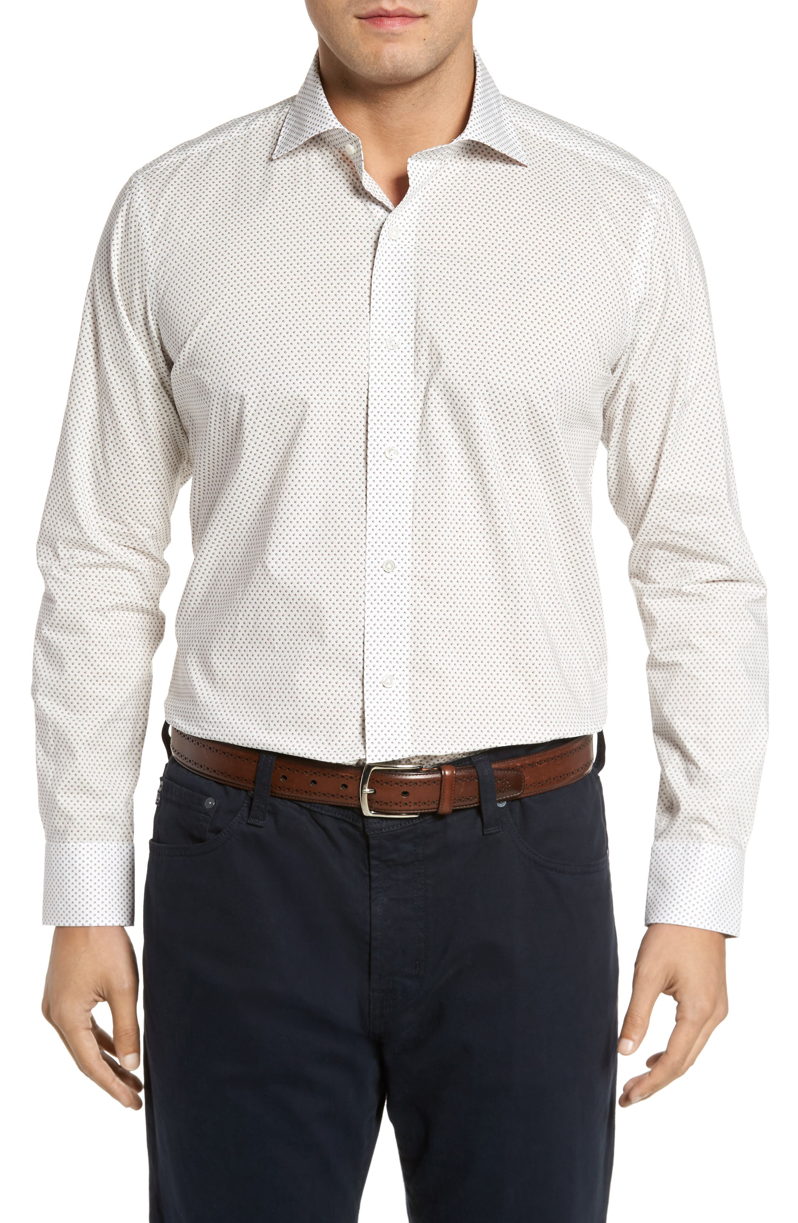 Alternate Image 1 Selected - Peter Millar Collection Desert Dot Print Sport Shirt