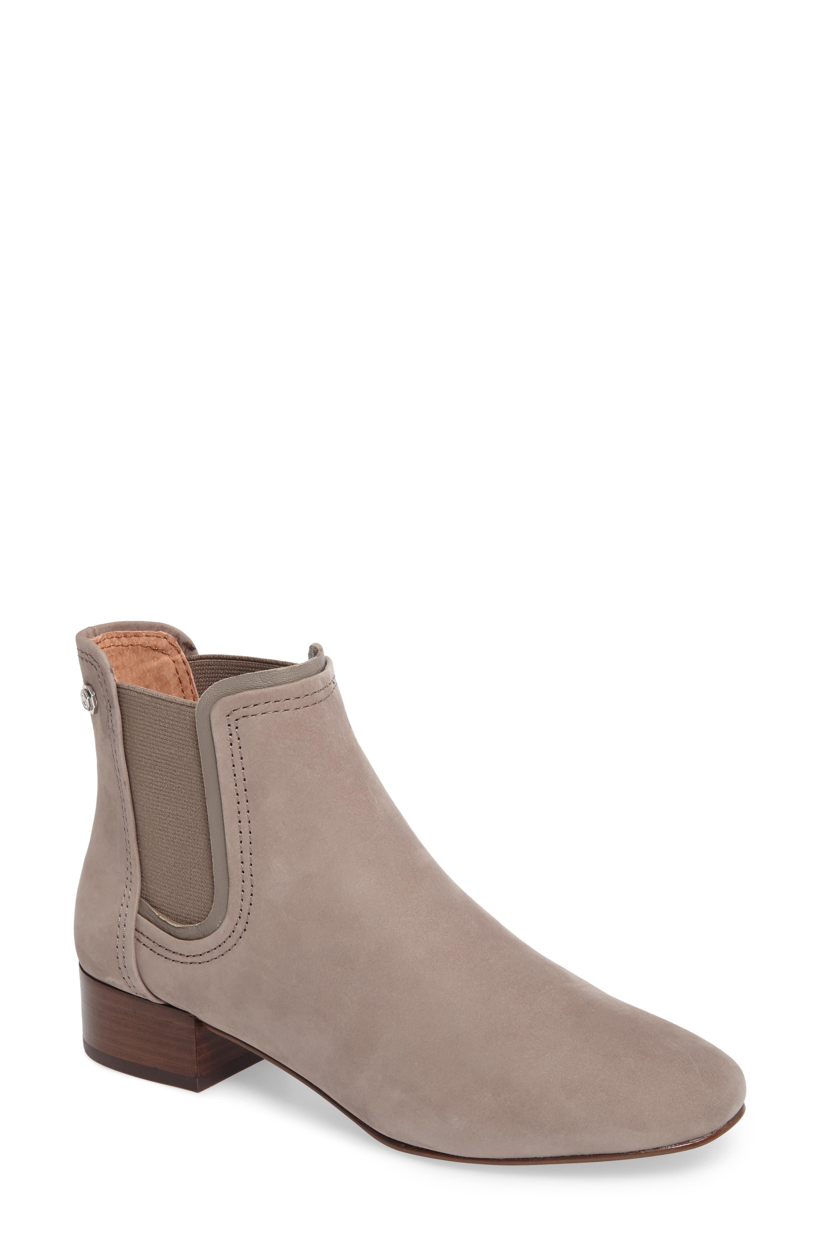 Waldon Chelsea Boot,                             Main thumbnail 1, color,                             Gravel Leather