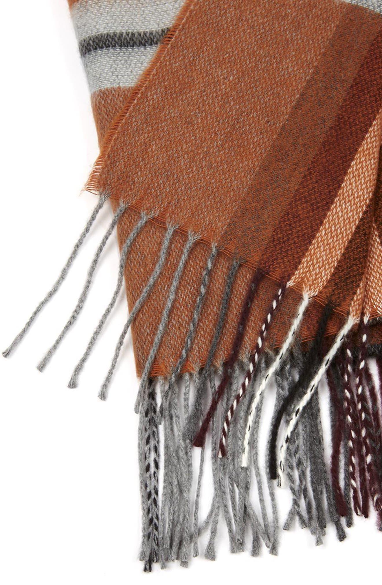 Alternate Image 4  - Topman Plaid Blanket Scarf