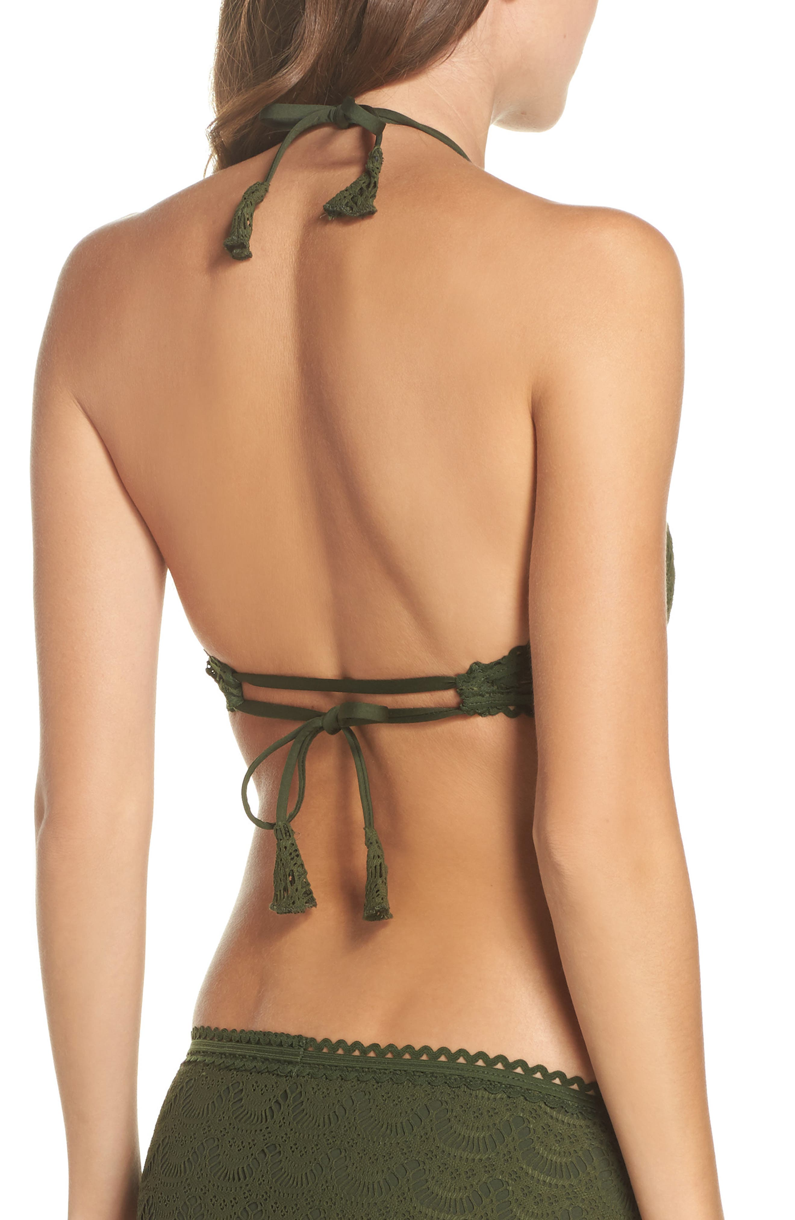 Alternate Image 2  - Becca Color Play High Neck Bikini Top