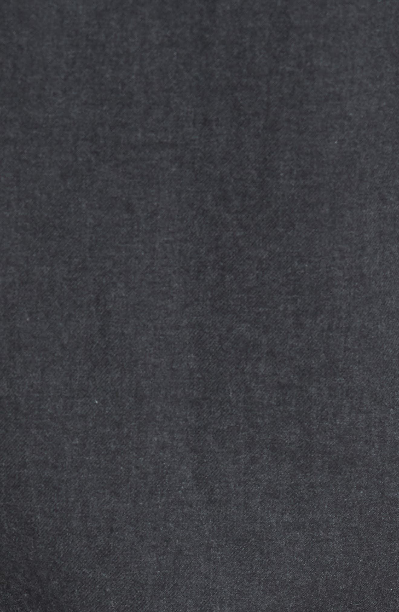 Slim Fit Brushed Twill Sport Shirt,                             Alternate thumbnail 5, color,                             Heather Charcoal