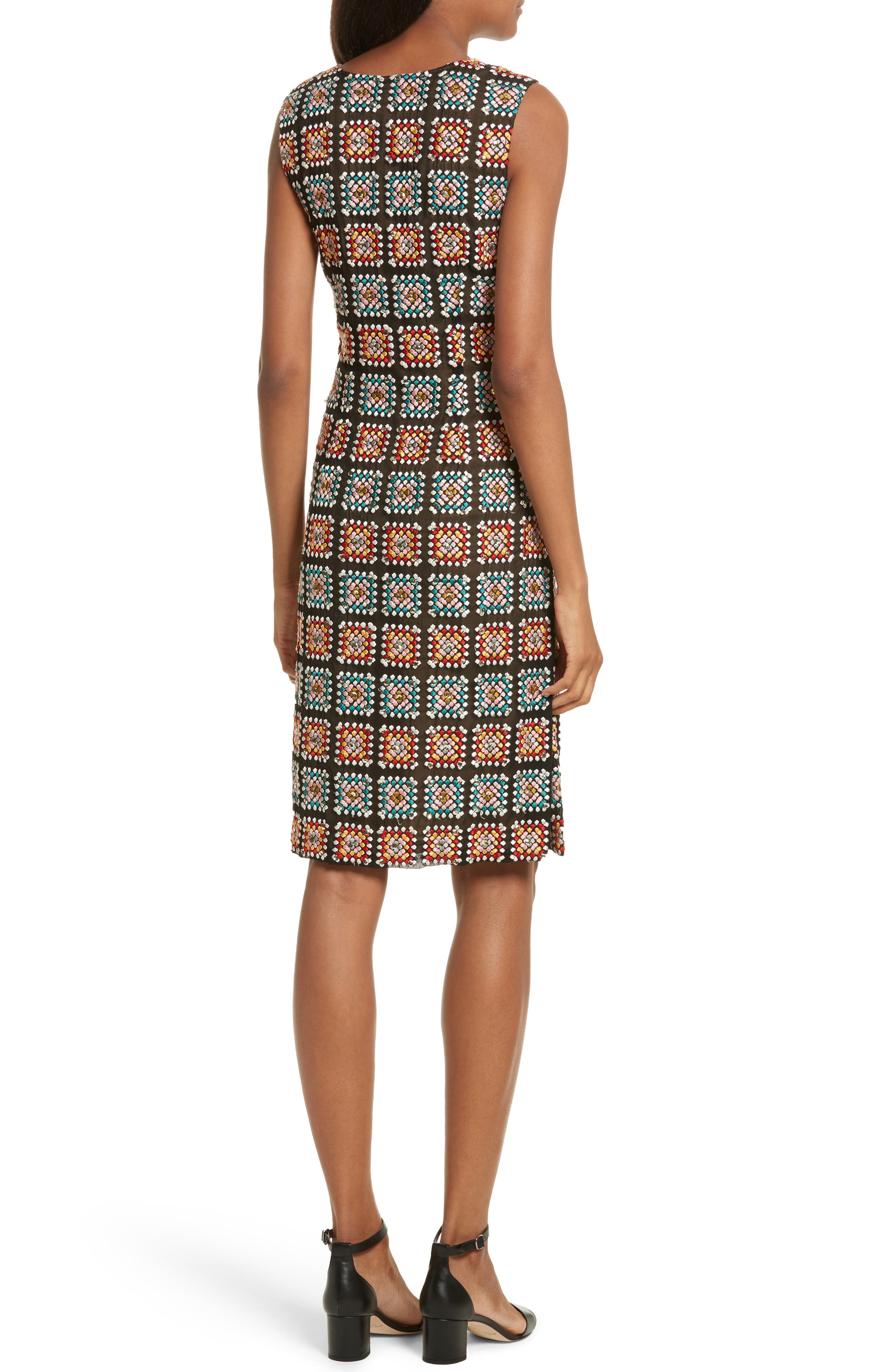 Alternate Image 2  - Tracy Reese Embellished Georgette Sheath Dress