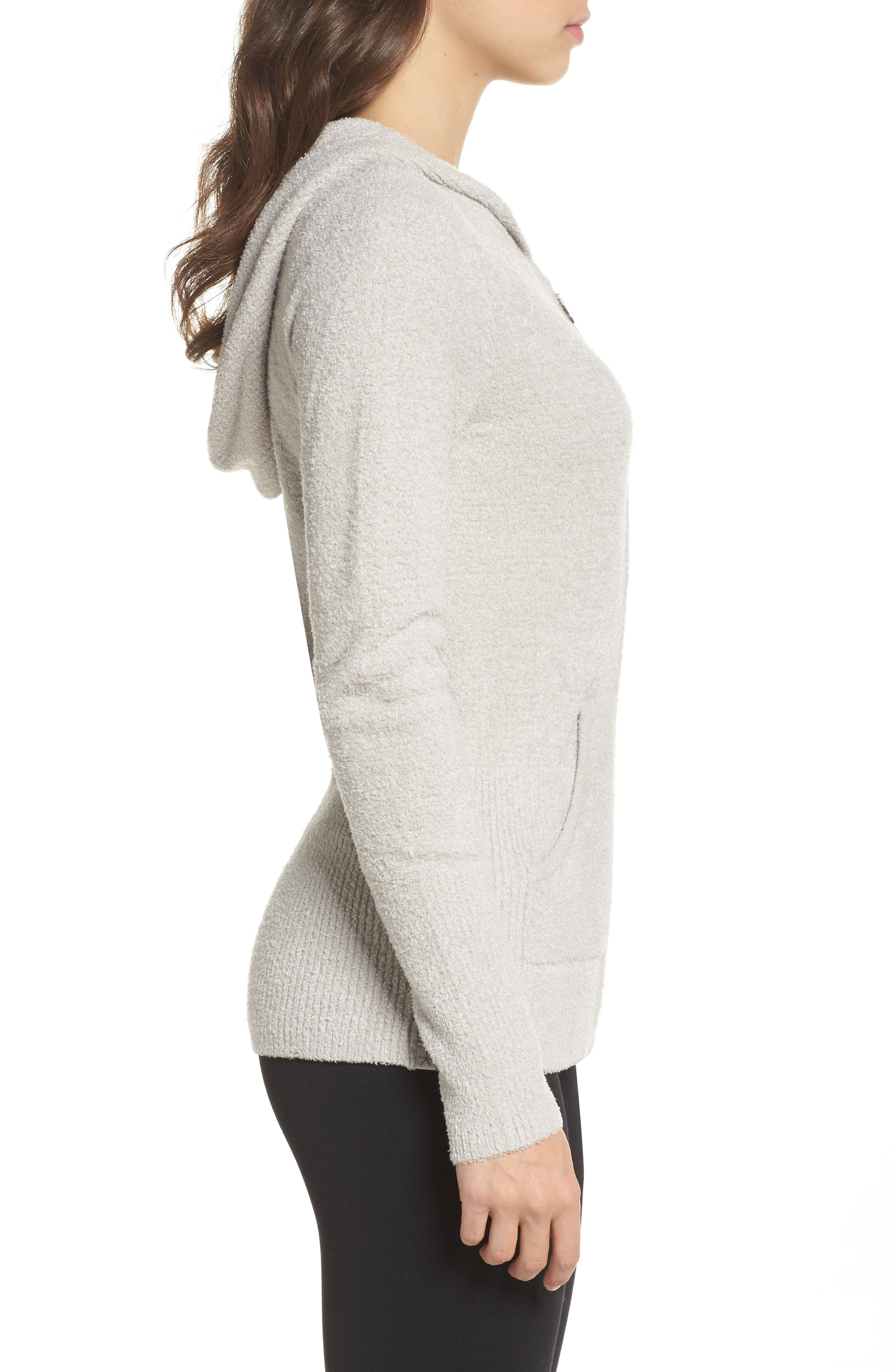 Cozychic Lite<sup>®</sup> Lounge Hoodie,                             Alternate thumbnail 3, color,                             Silver
